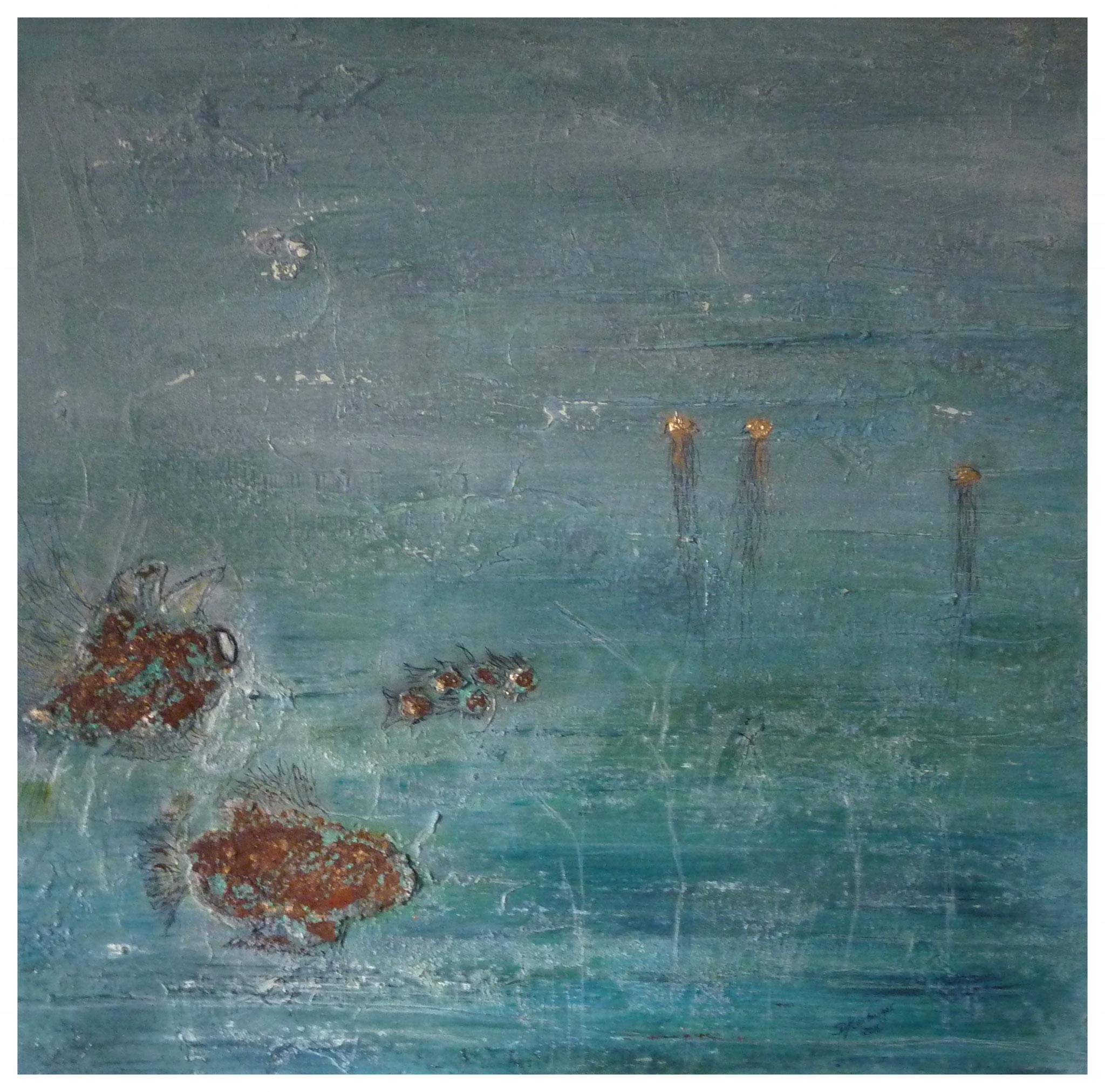 Unterwasser II , 60 x 60 , 2016