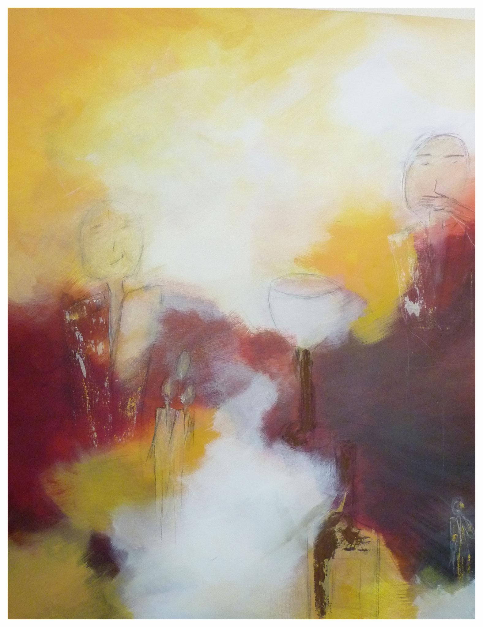 Weinselig , 80 x 100 , 2016
