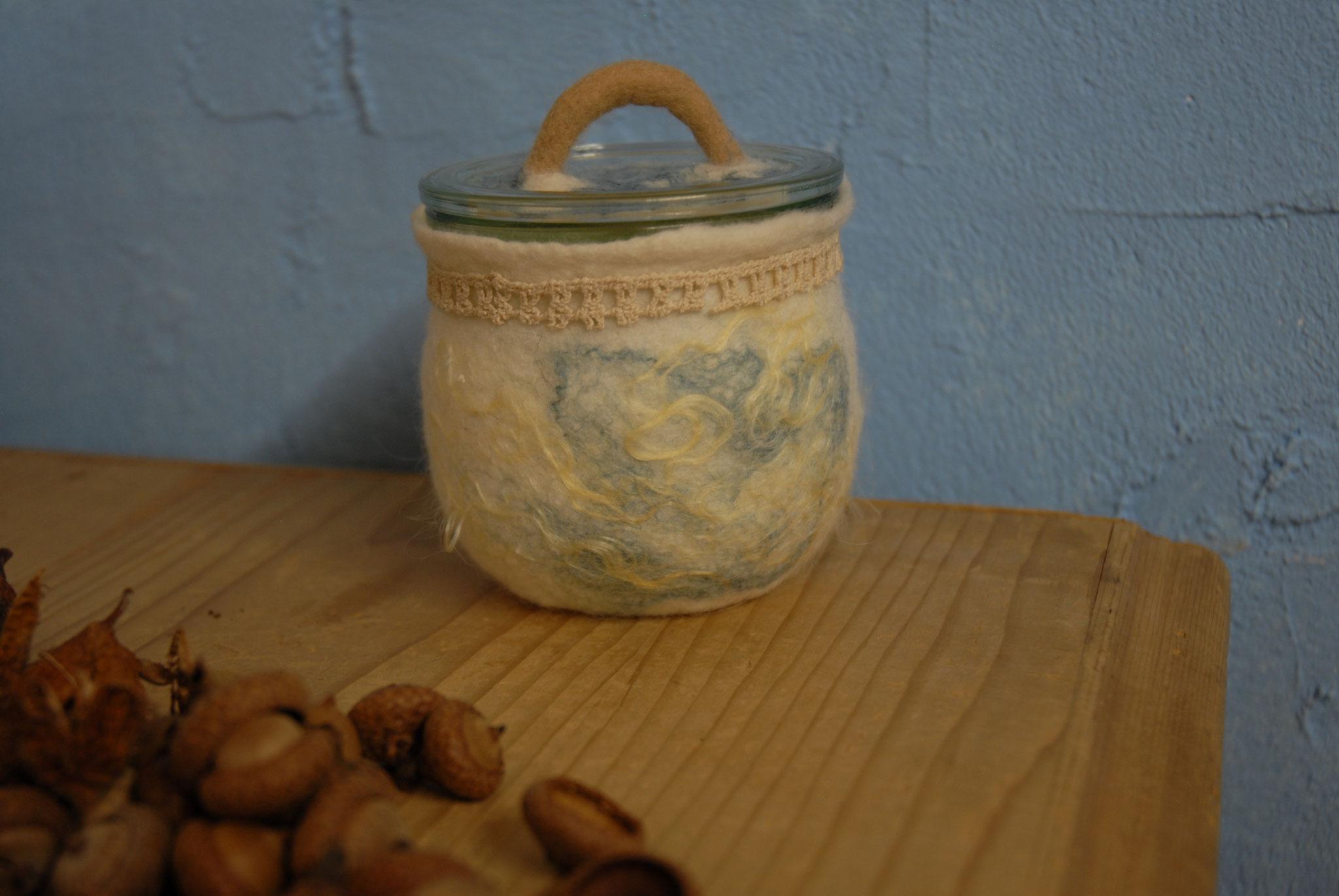 Nr. 6 Tulpenglas Eingefilze Spitze, 370 ml