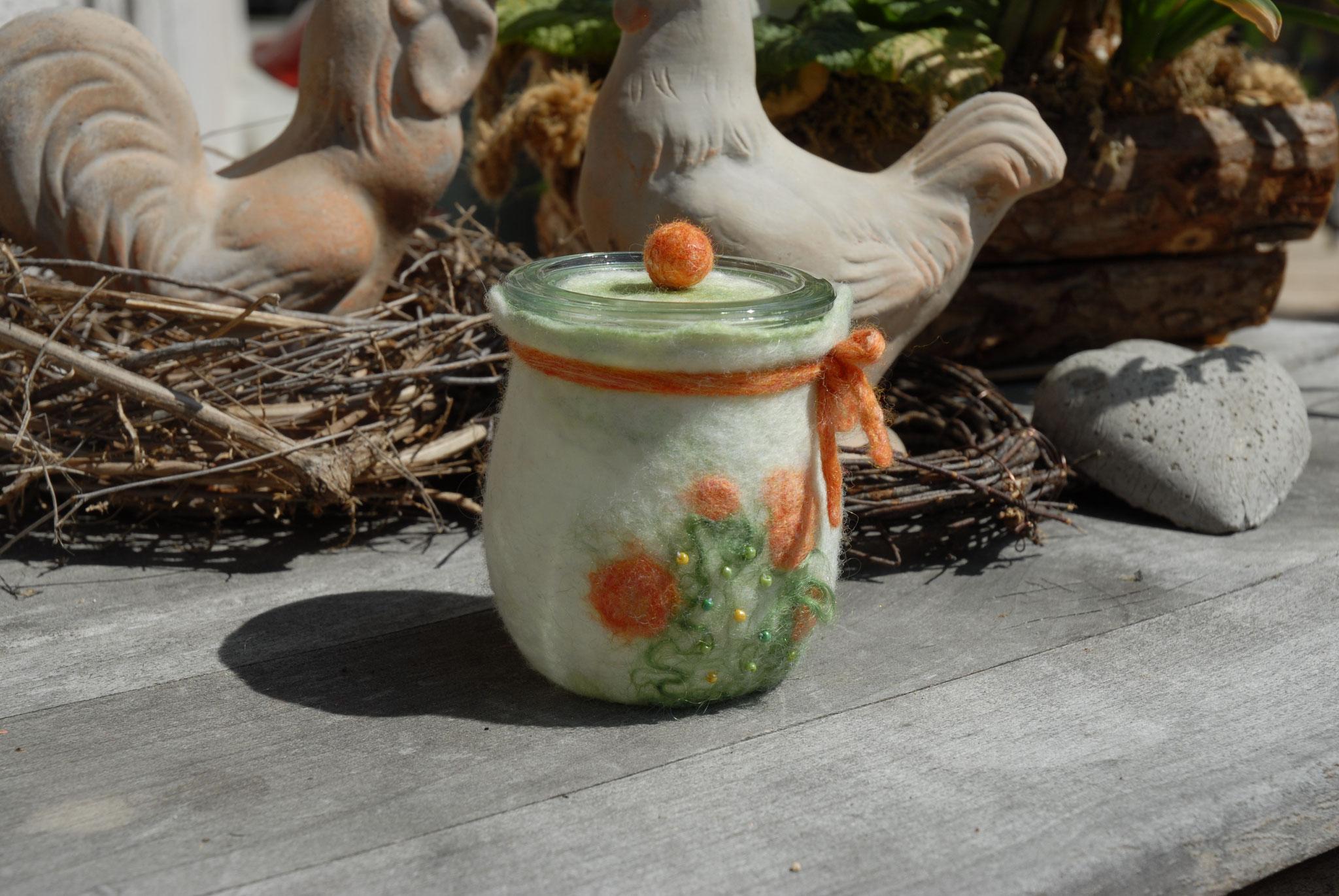 Nr. 1 Tulpenglas Orange bestickt 220 ml