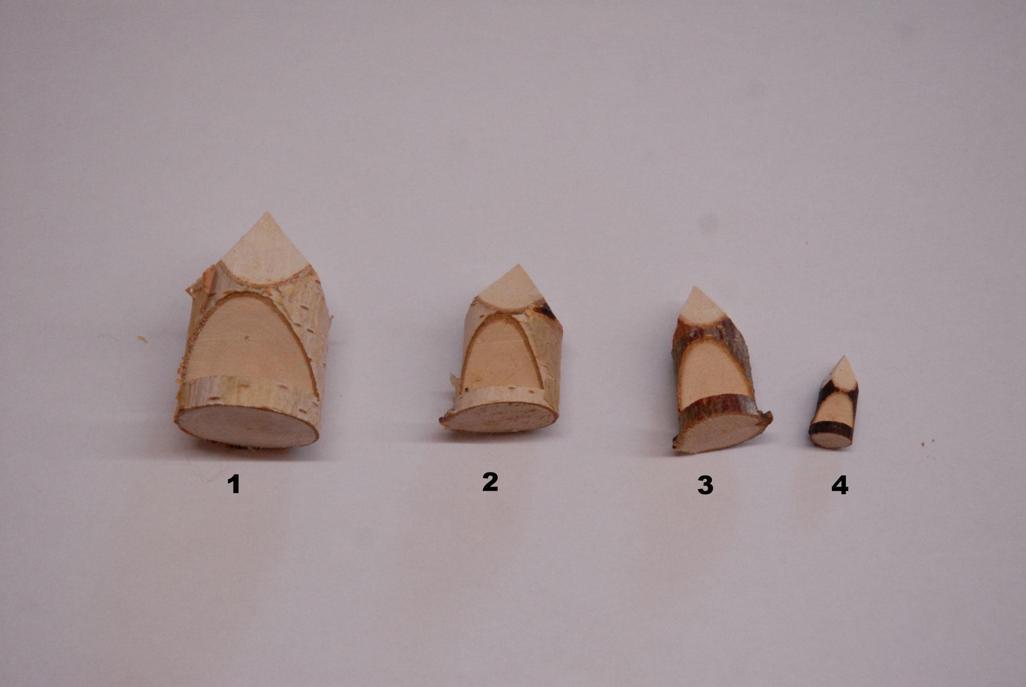 Holzlaterne Nr. 1-4  ( Schweizer Produktion, Handgemacht)