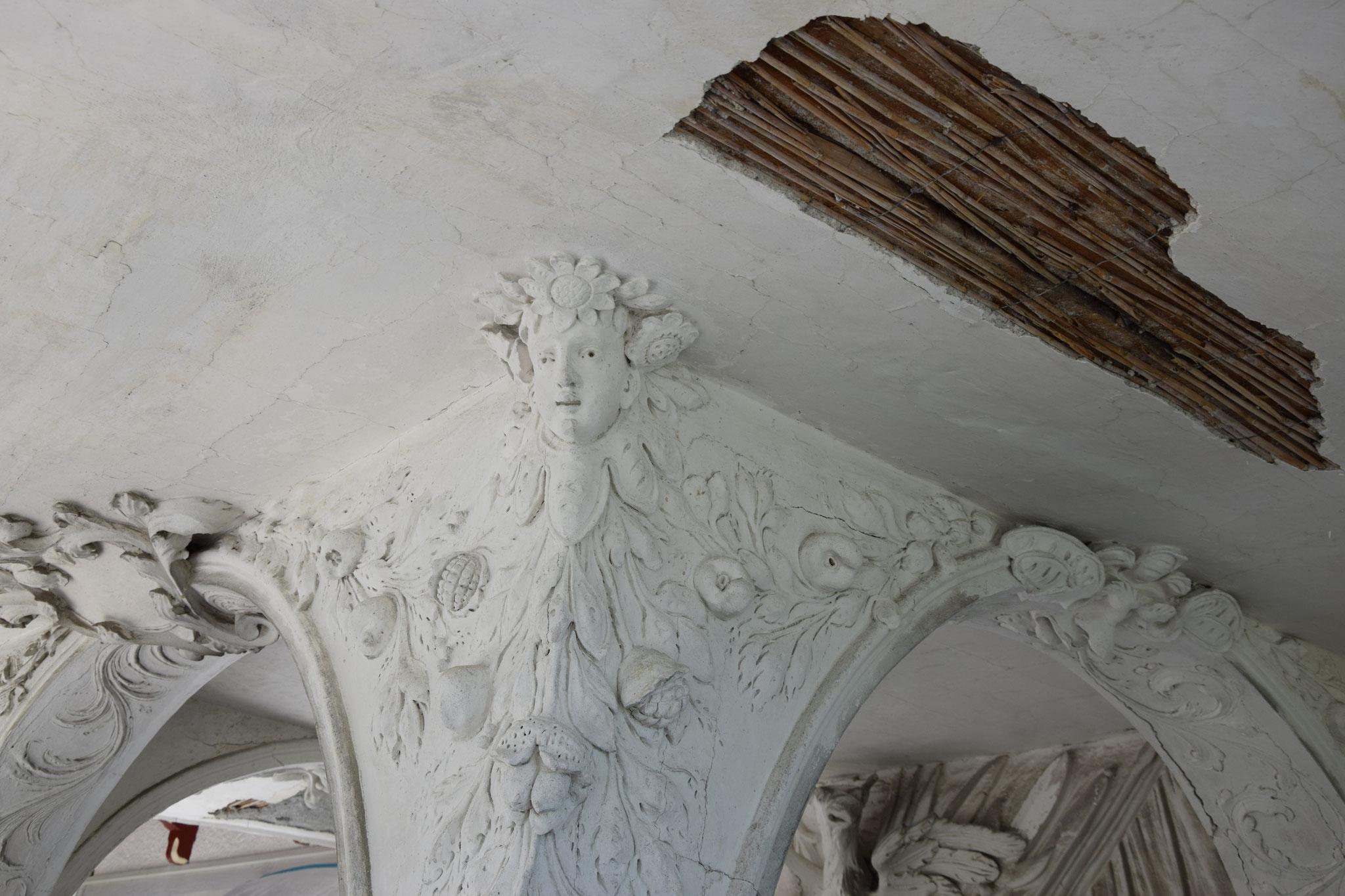 Vorzeichen während der Restaurierung