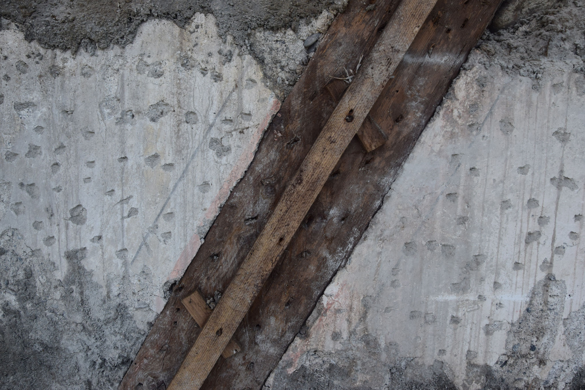 Detail Original Putzfragmente