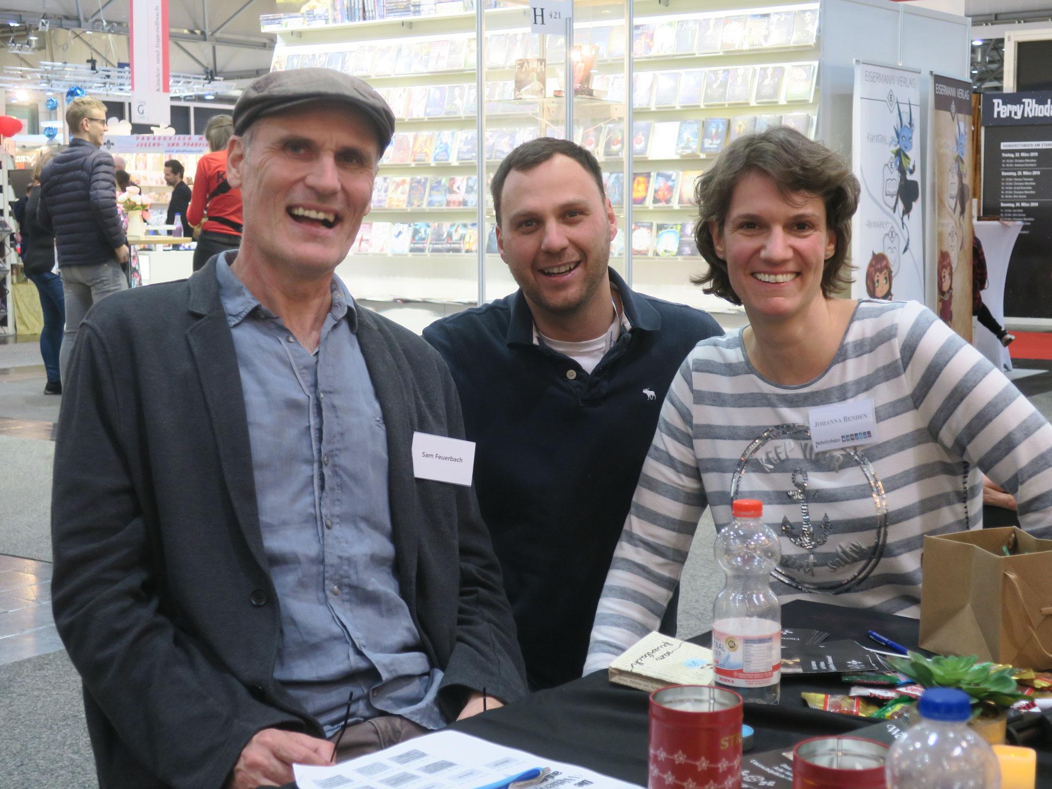 Sam mit Greg und Johanna Benden