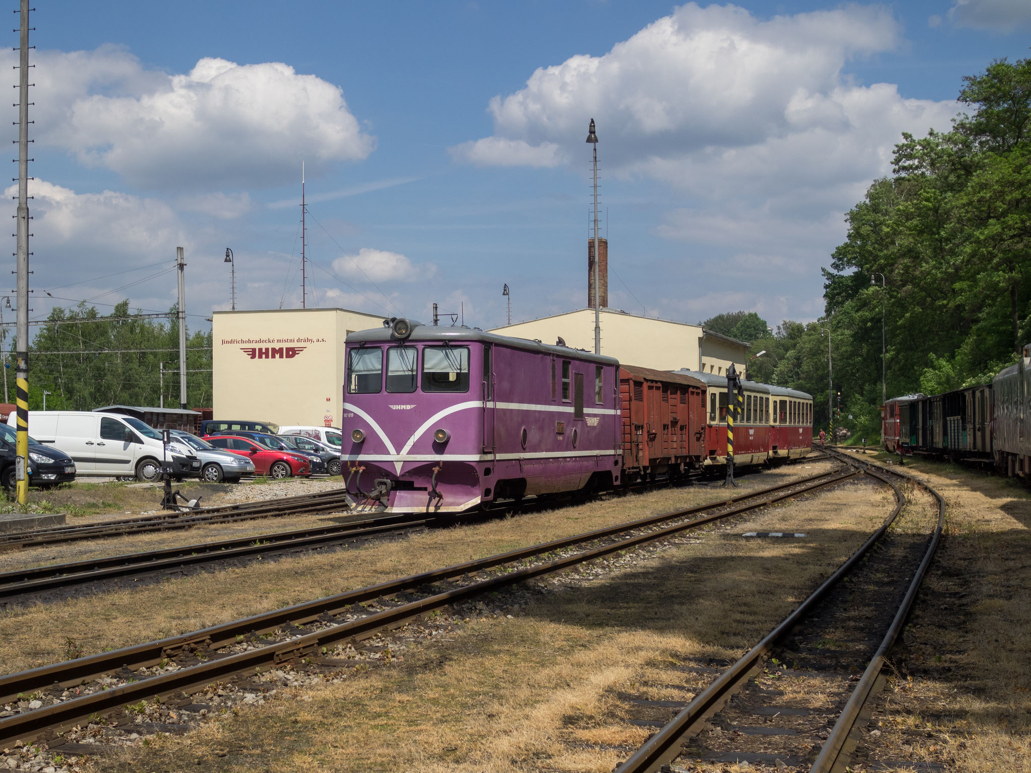 Einfahrt in Jindrichuv Hradec