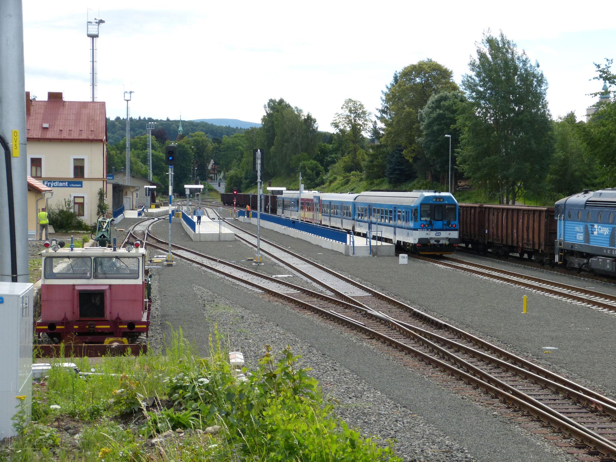 Rekonstruierter Normalspur-Bahnhof Friedland