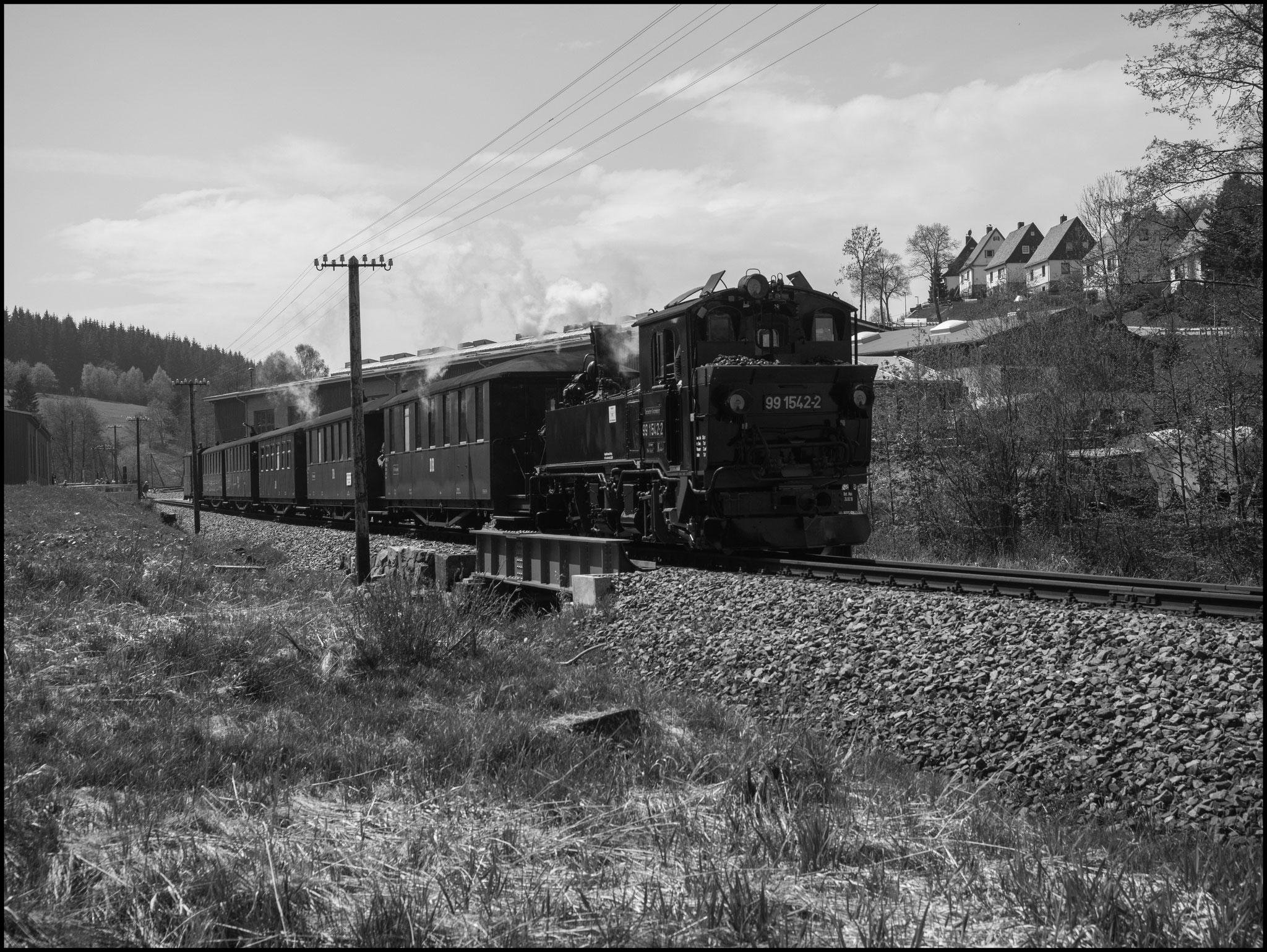 99 1452 auf der Rücktour nach Steinbach