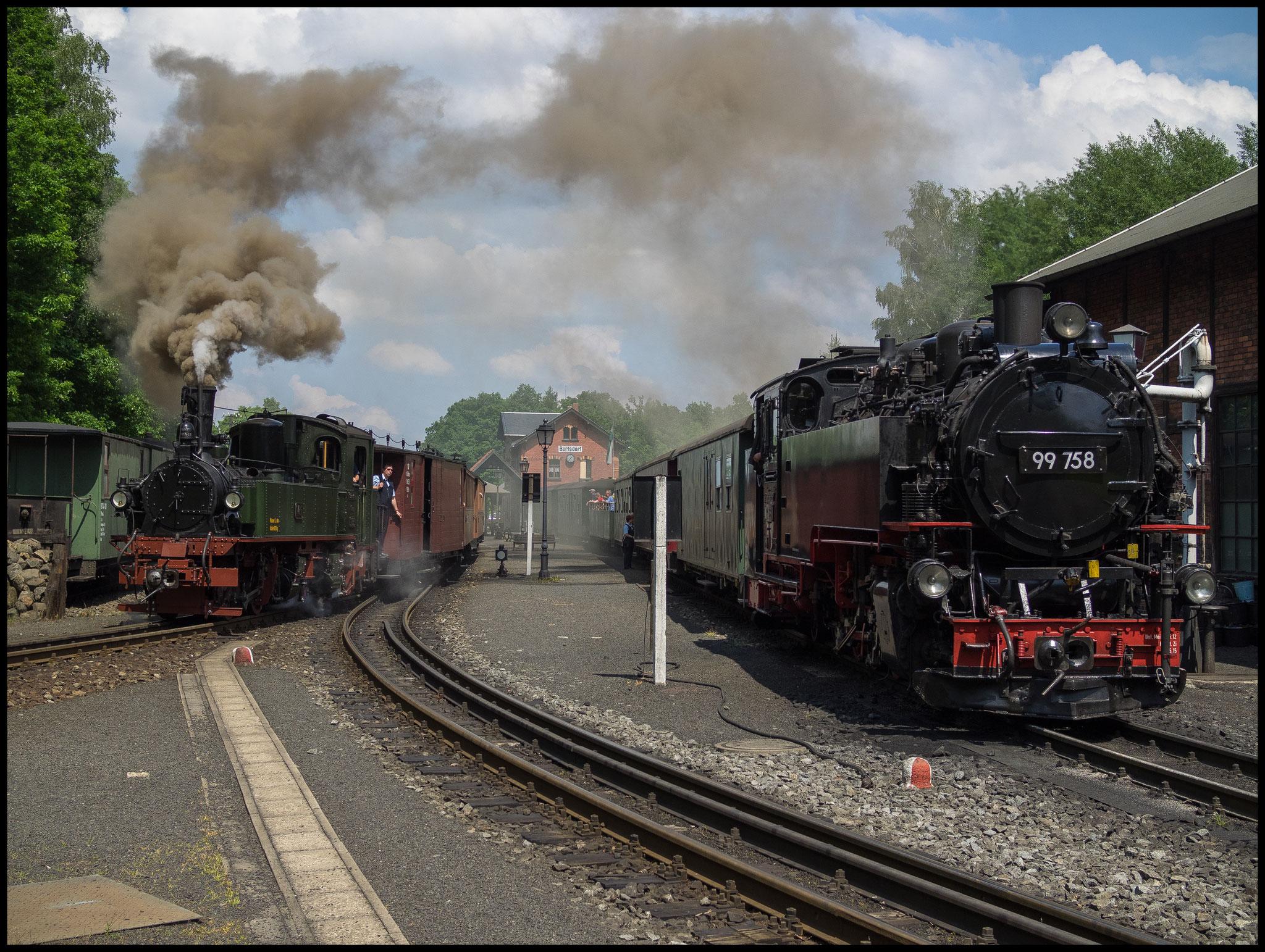 Doppelausfahrt mit IV K und VII K in Bertsdorf