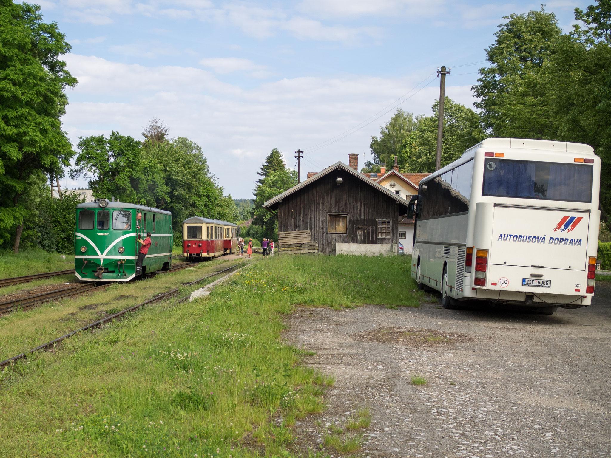 Ankunft in Cernovice u Tabora