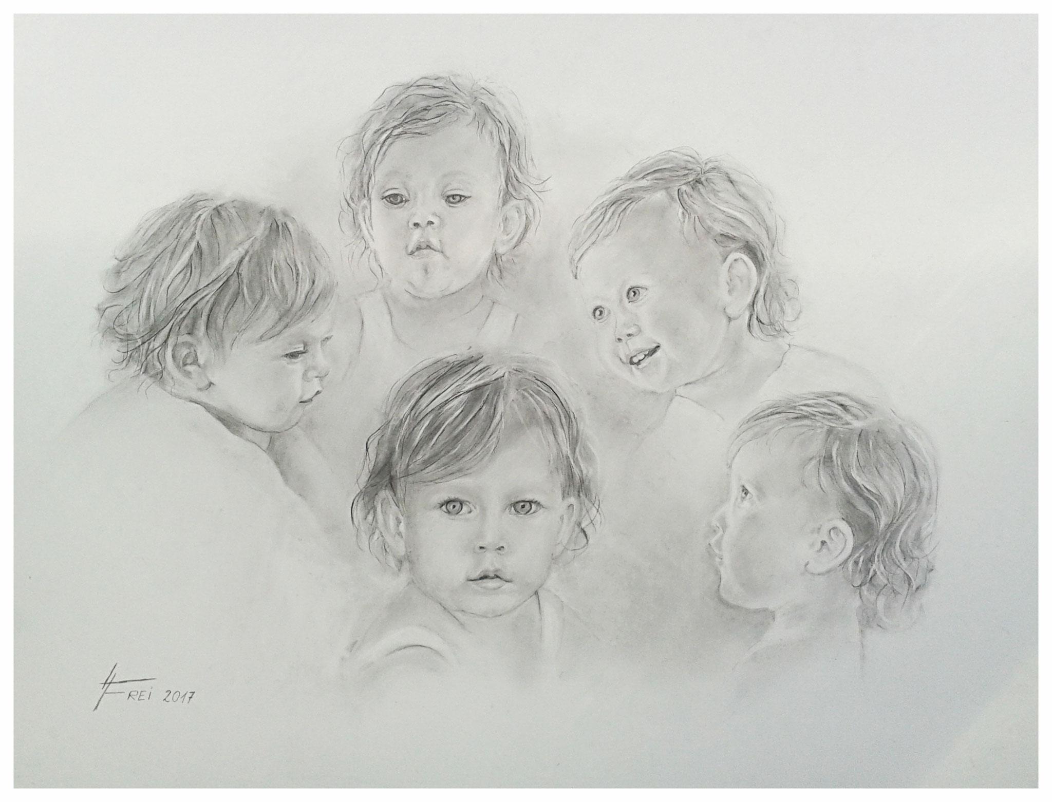 ART HFrei - Portraitstudien eines Kleinkindes