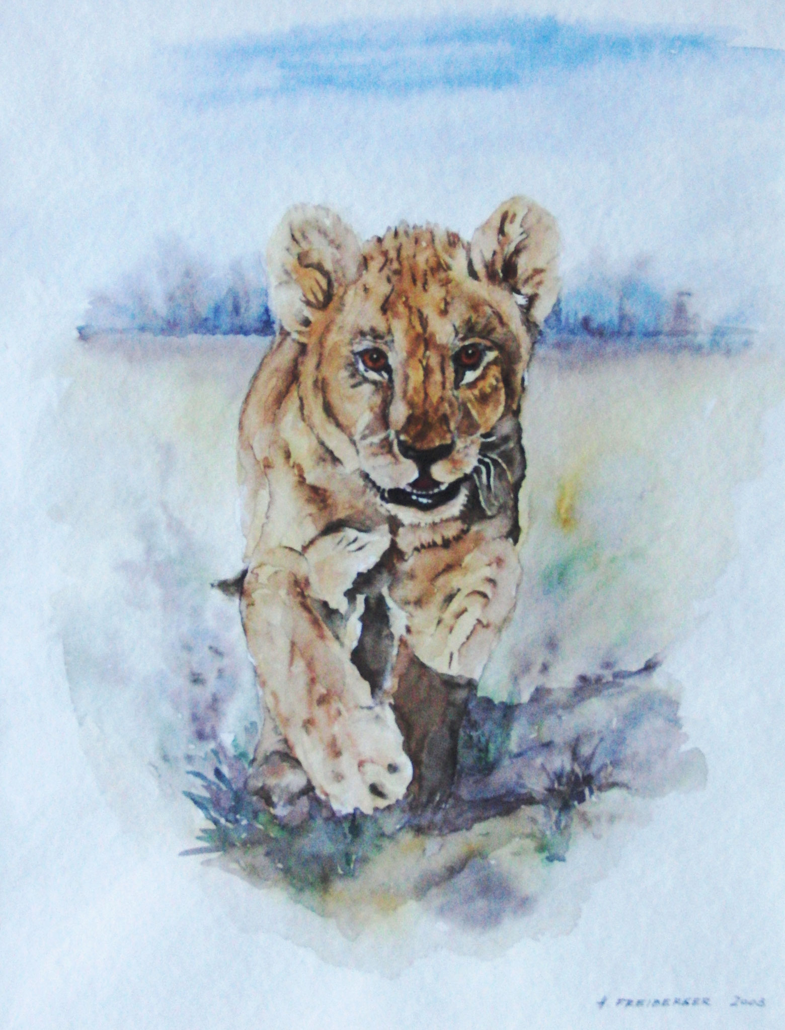 "ART HFrei- ""Tiger"" - Aquarell - 2003"