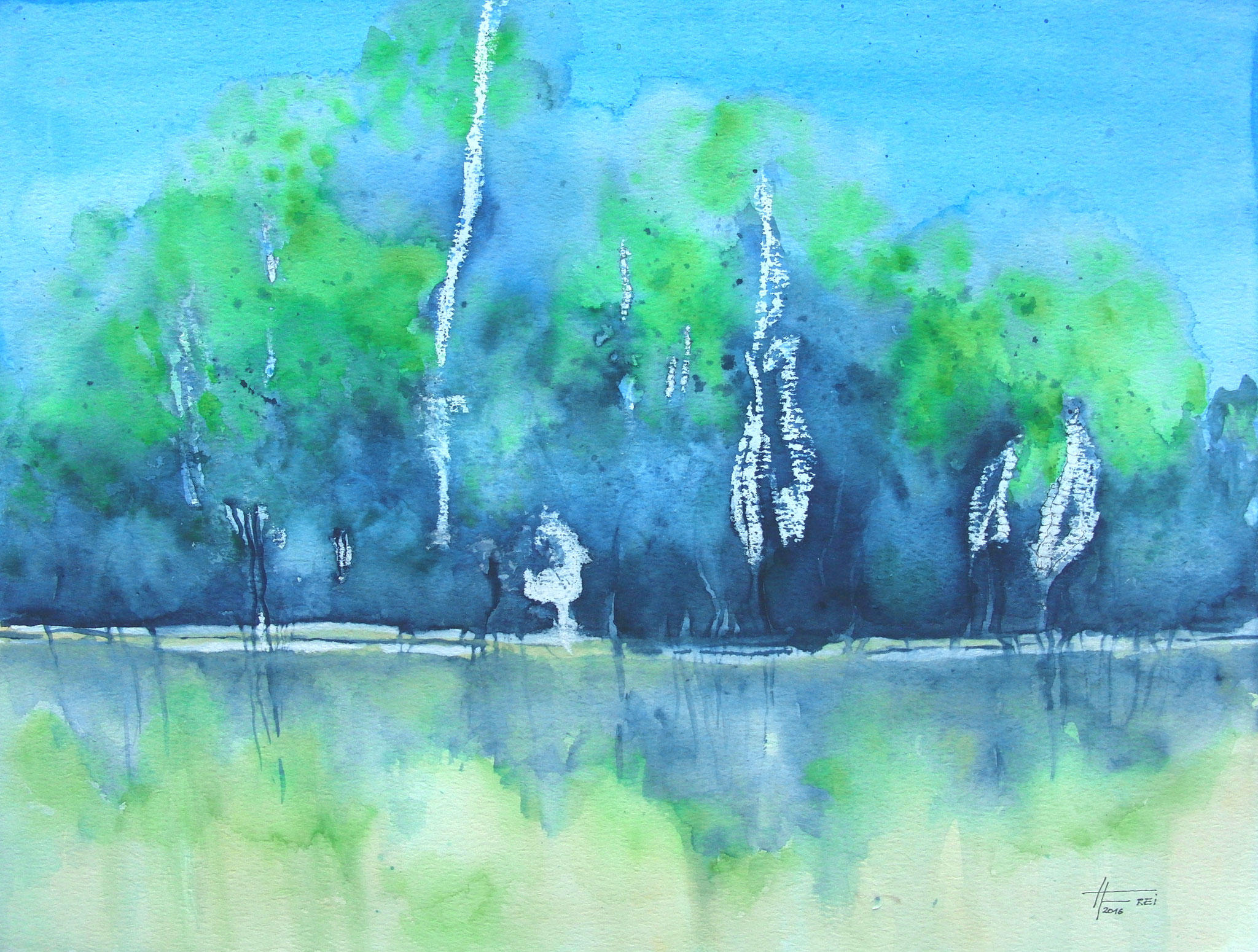"ART HFrei - ""Am See"" - Aquarell - 2016"
