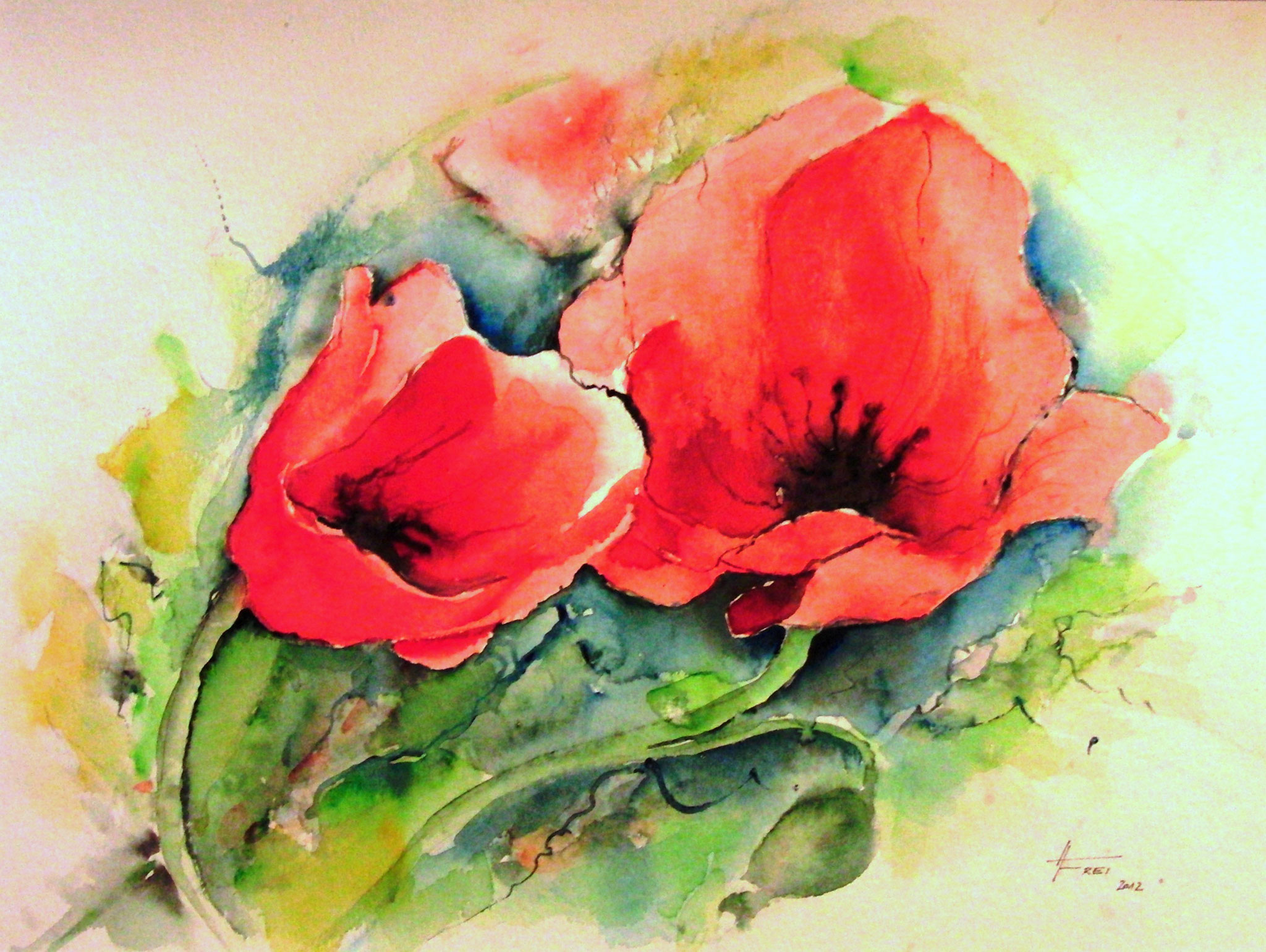 "ART HFrei - ""Klatschmohn"" - Aquarell - 2012"