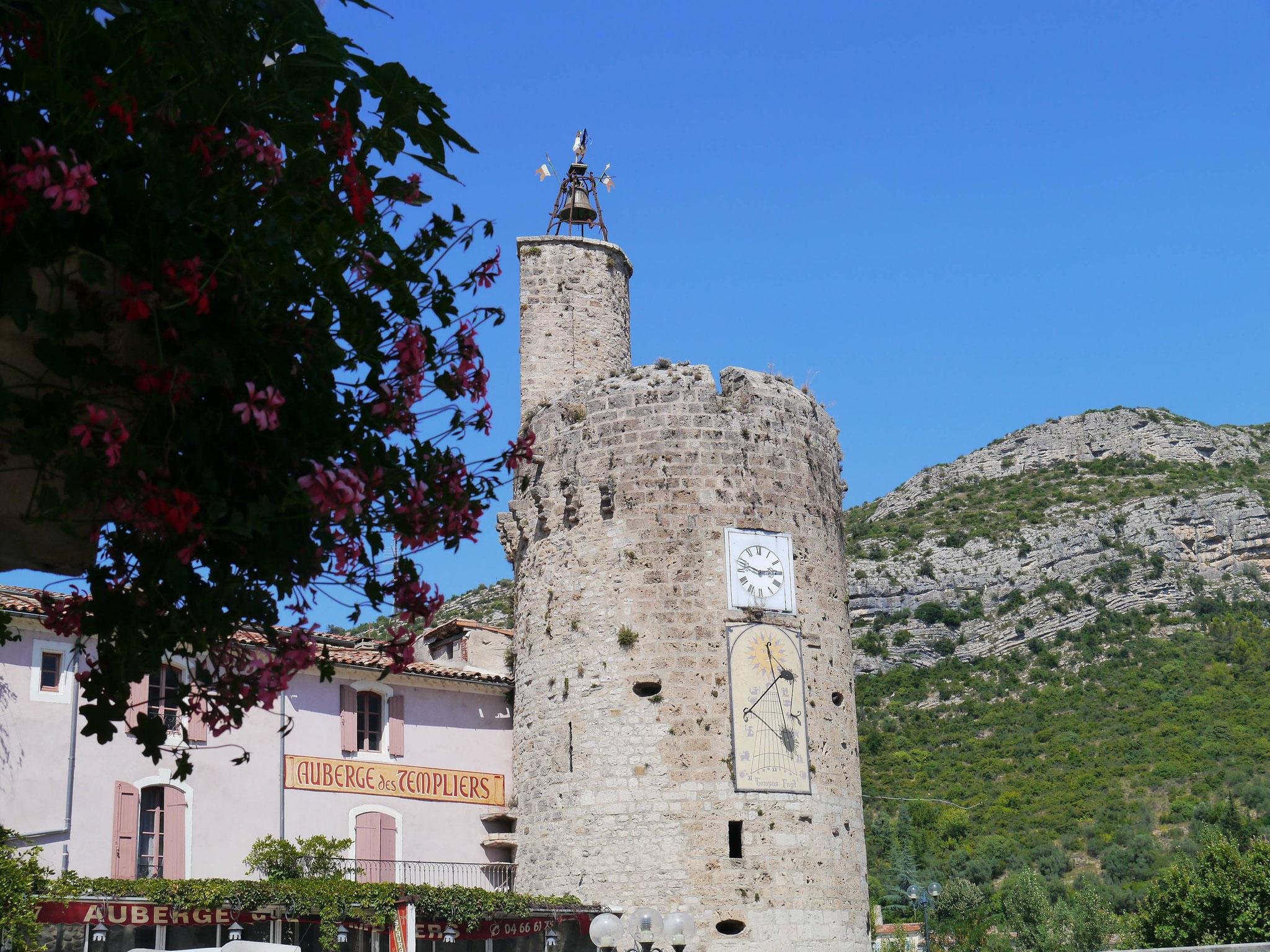 La tour de l'horloge d'Anduze-Gard