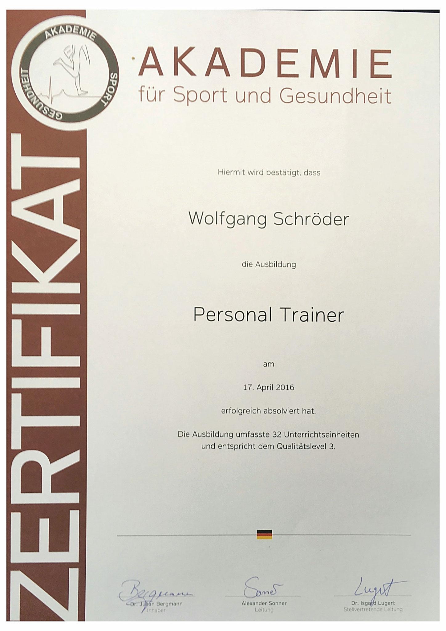 Wolfgang Schrder Personal Trainer Corewolf Sports Ems Und