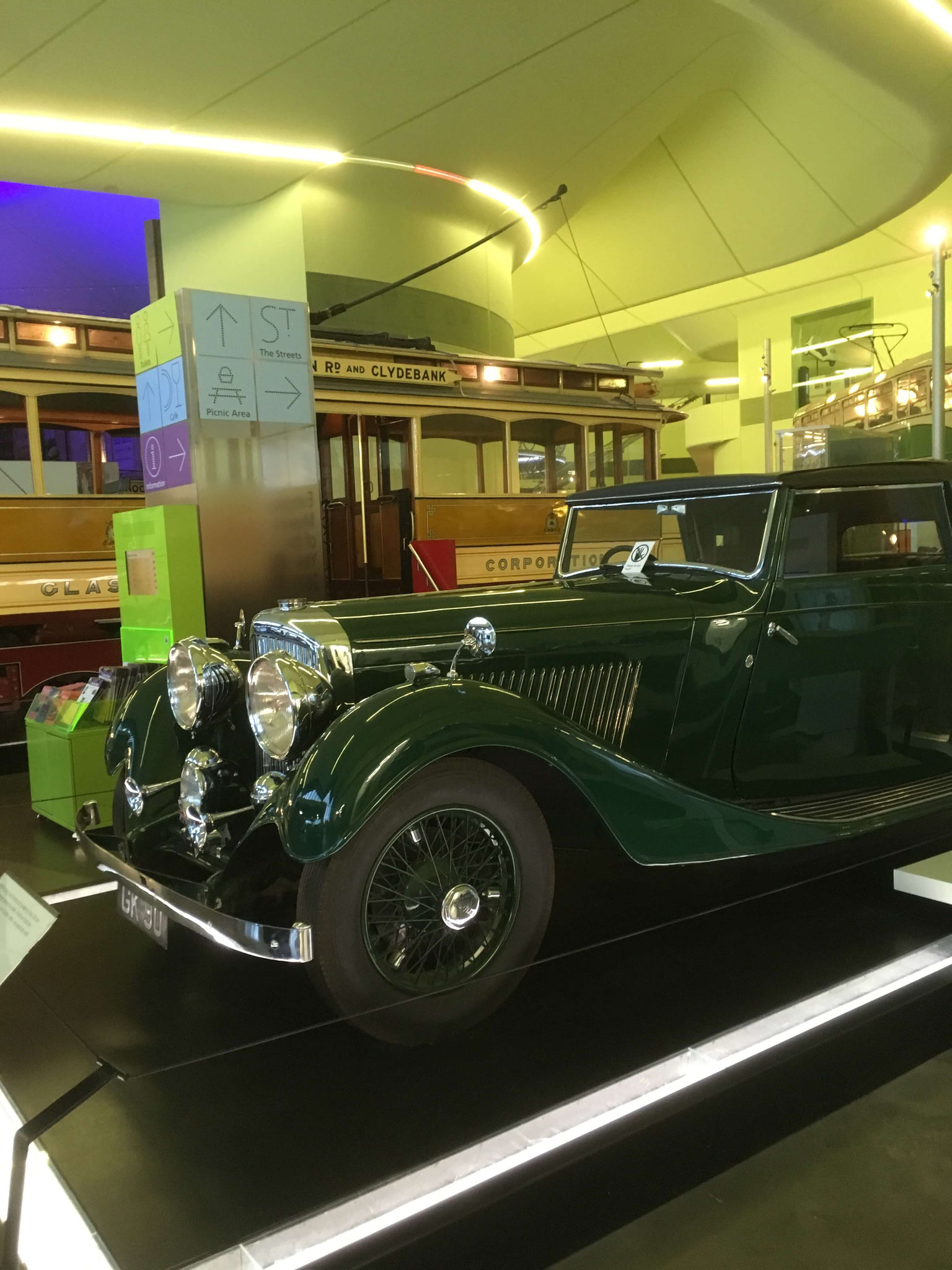 A beautiful old car at Riverside Museum Glasgow