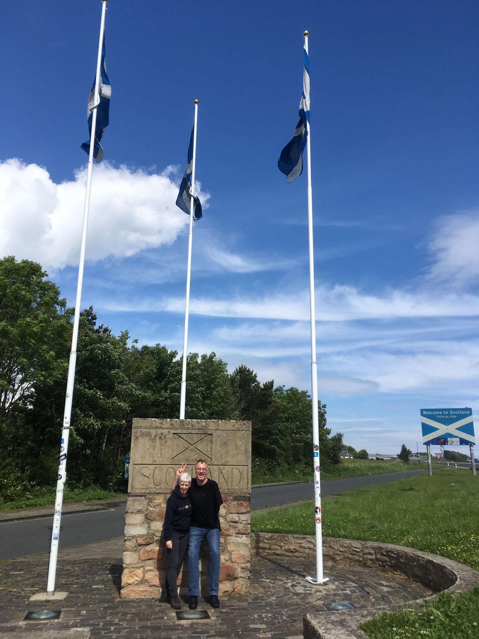 Hallo von der schottischen Grenze
