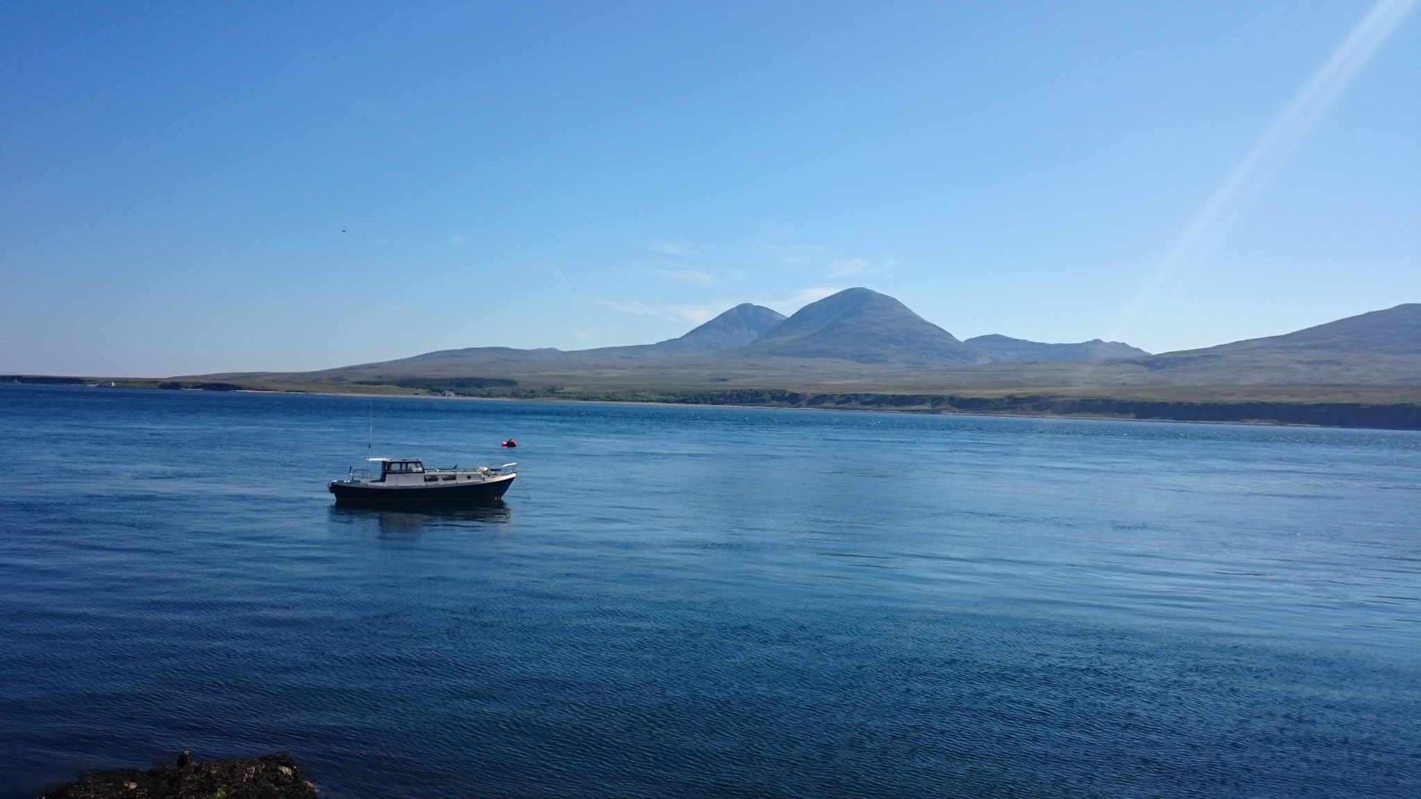 View from Caol Ila Distillery towards the Isle of Jura