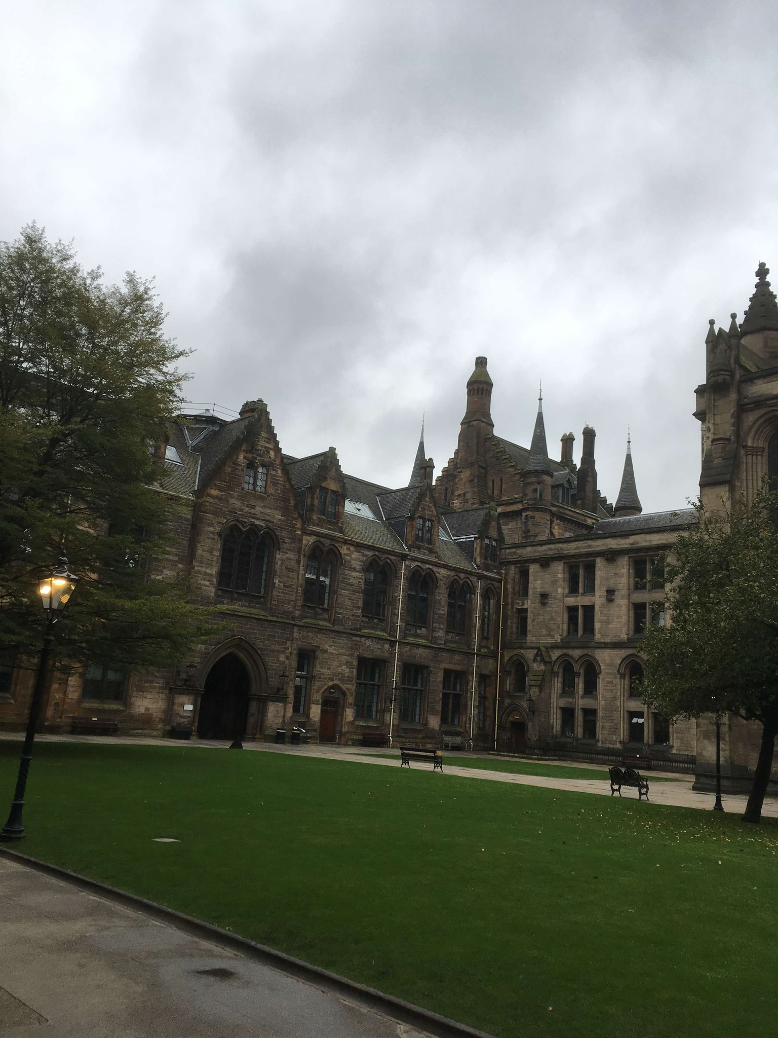 University of Glasgow courtyard