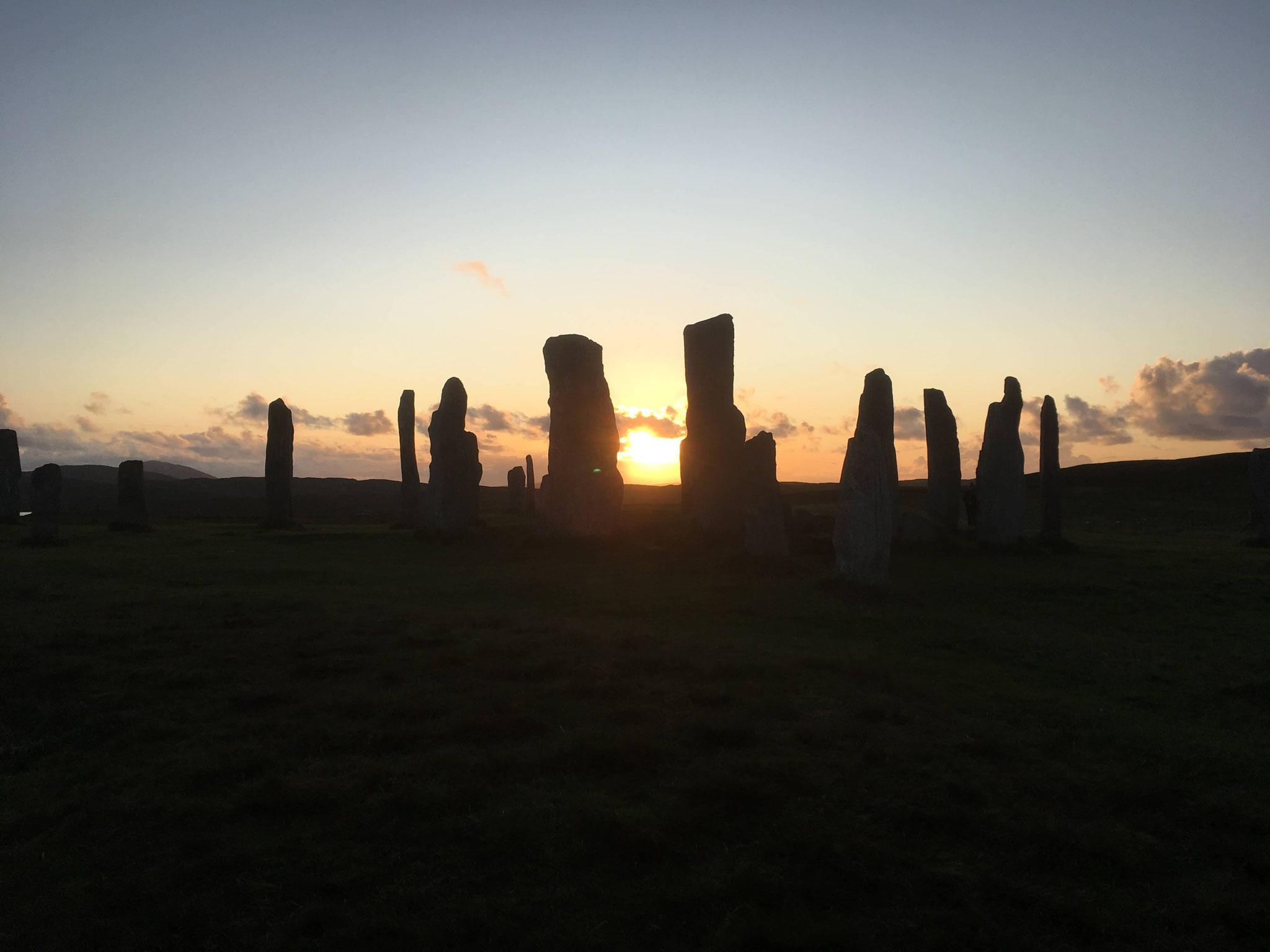 Sonnenuntergang an den Standing Stones of Callanish