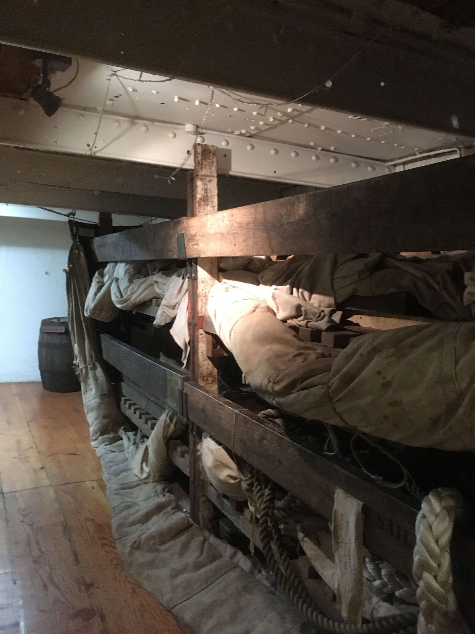 Bunk beds on board the Glenlee in Glasgow