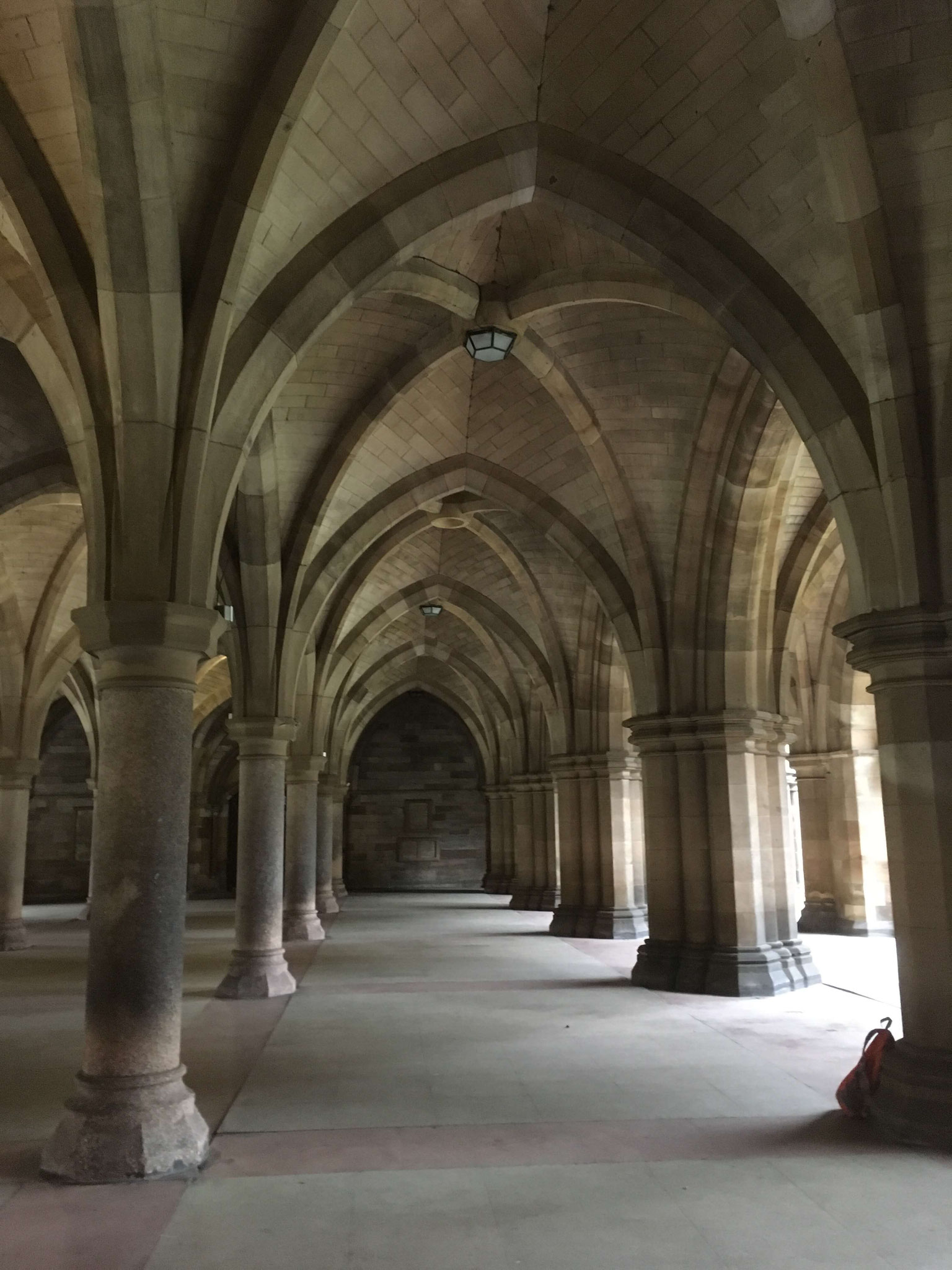 The Cloisters are one of the most popular photo spots of the University of Glasgow