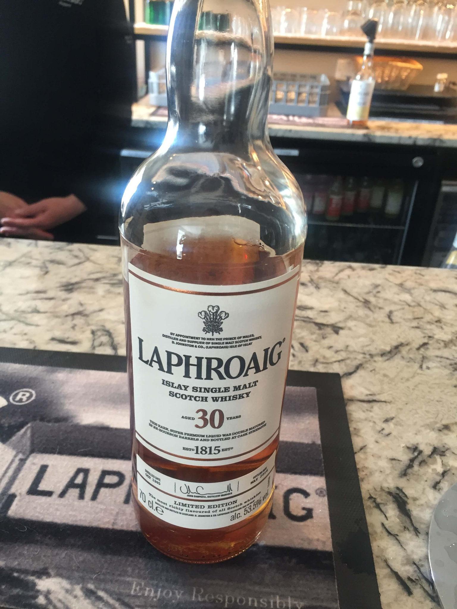 30 y.o. Laphroaig whisky