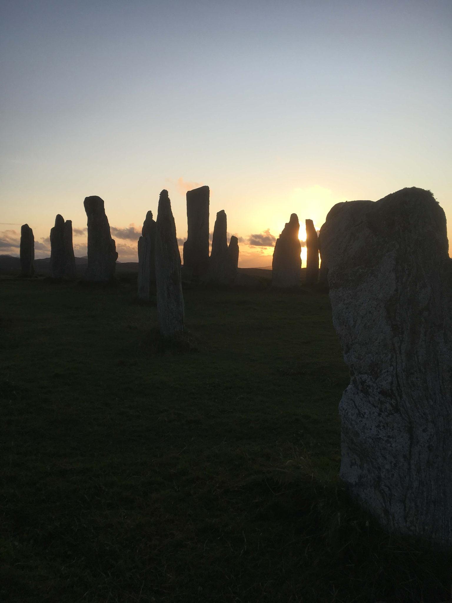 Sonnenuntergang Standing Stones of Callanish