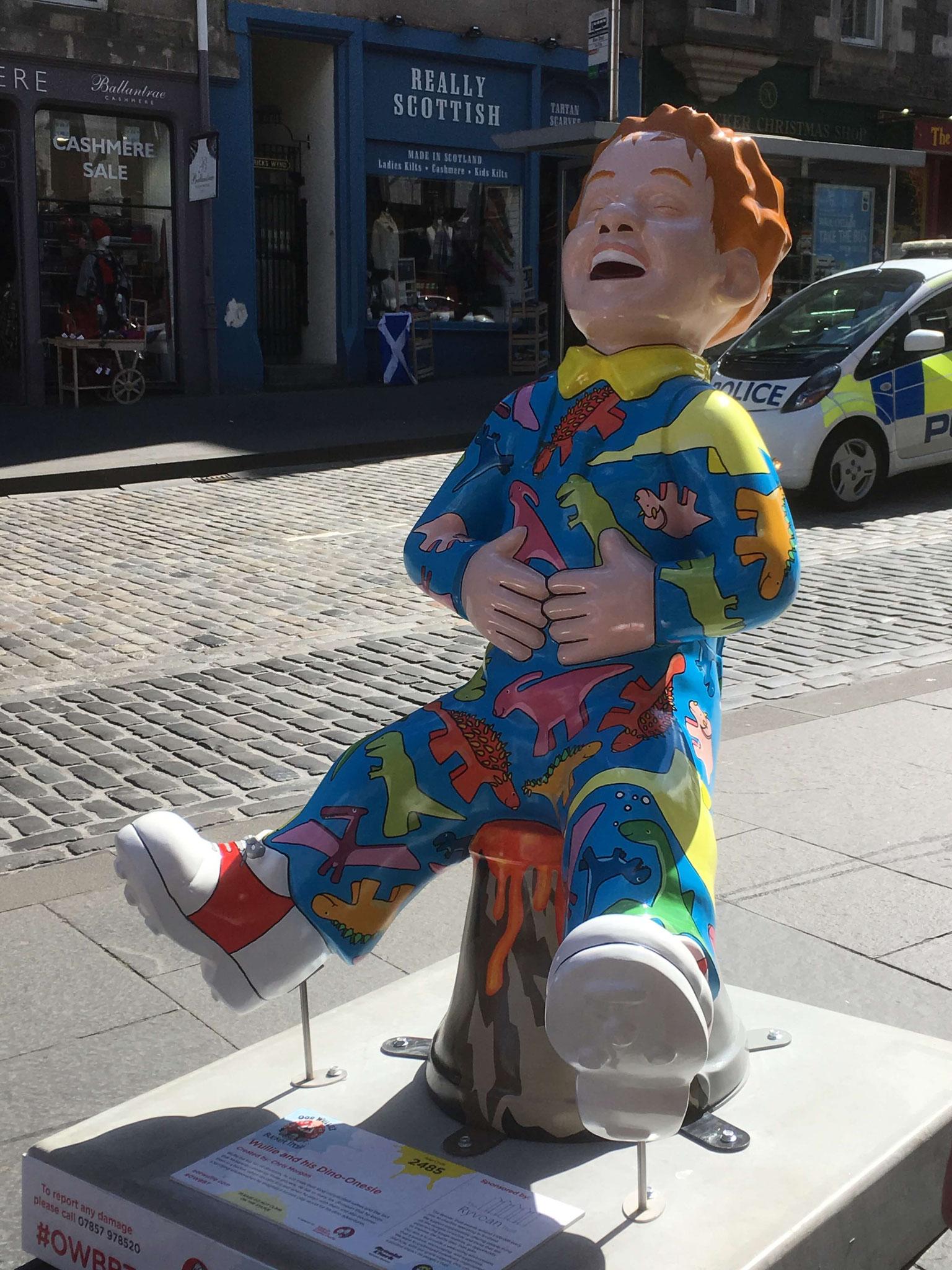 Oor Wullie on the Royal Mile