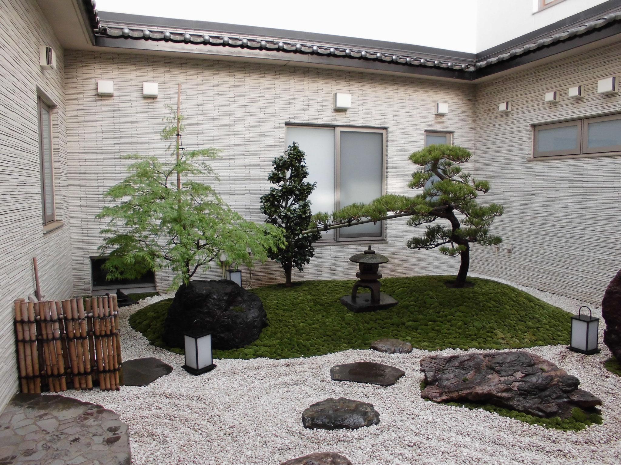 中庭の苔庭園