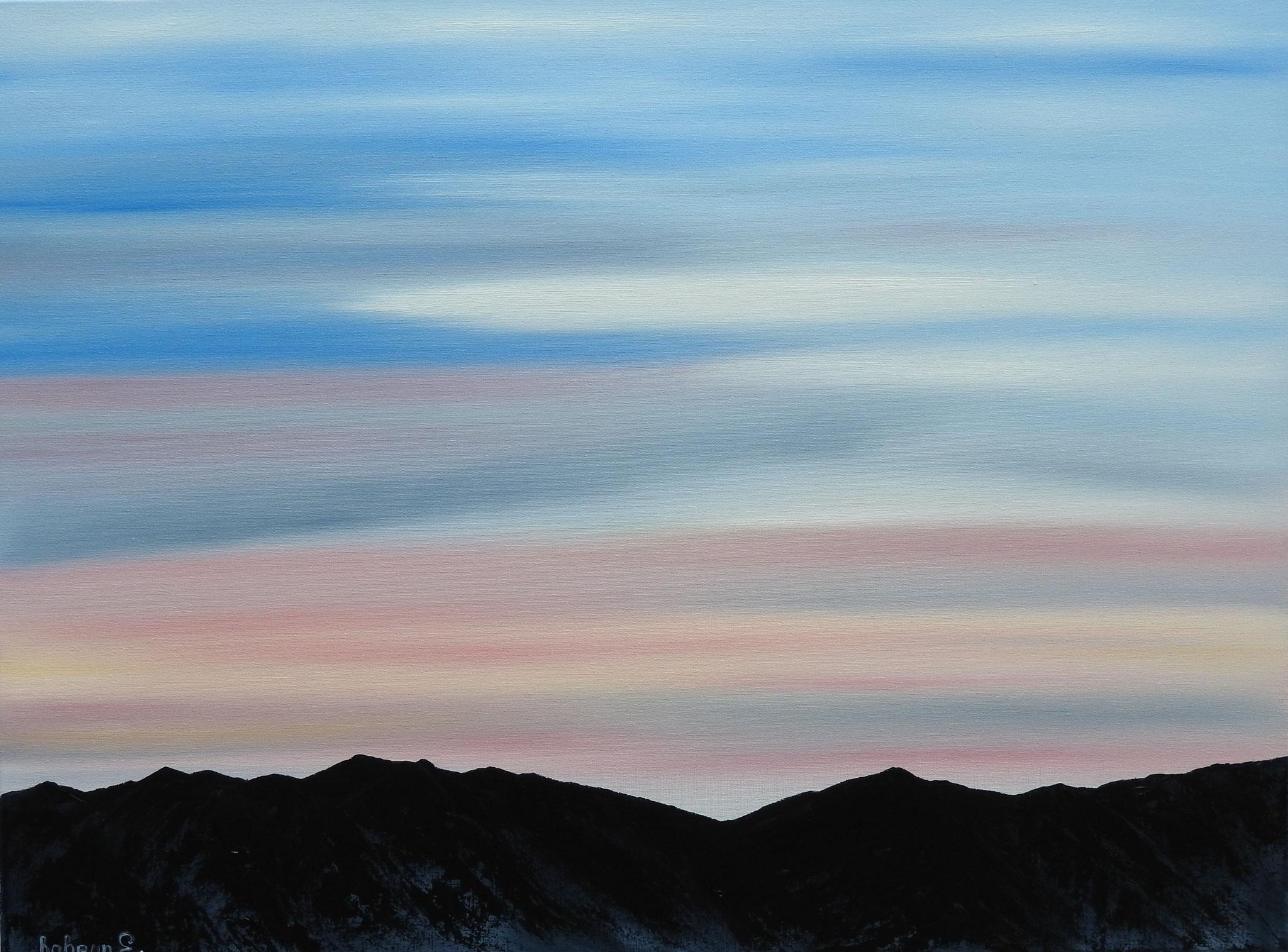 """Sunrise in the mountains"" - oil, canvas 60Х80, 2016"