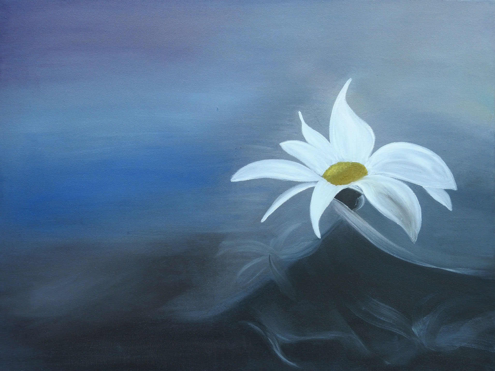 """White flower""   - oil, canvas 60x80, 2016"