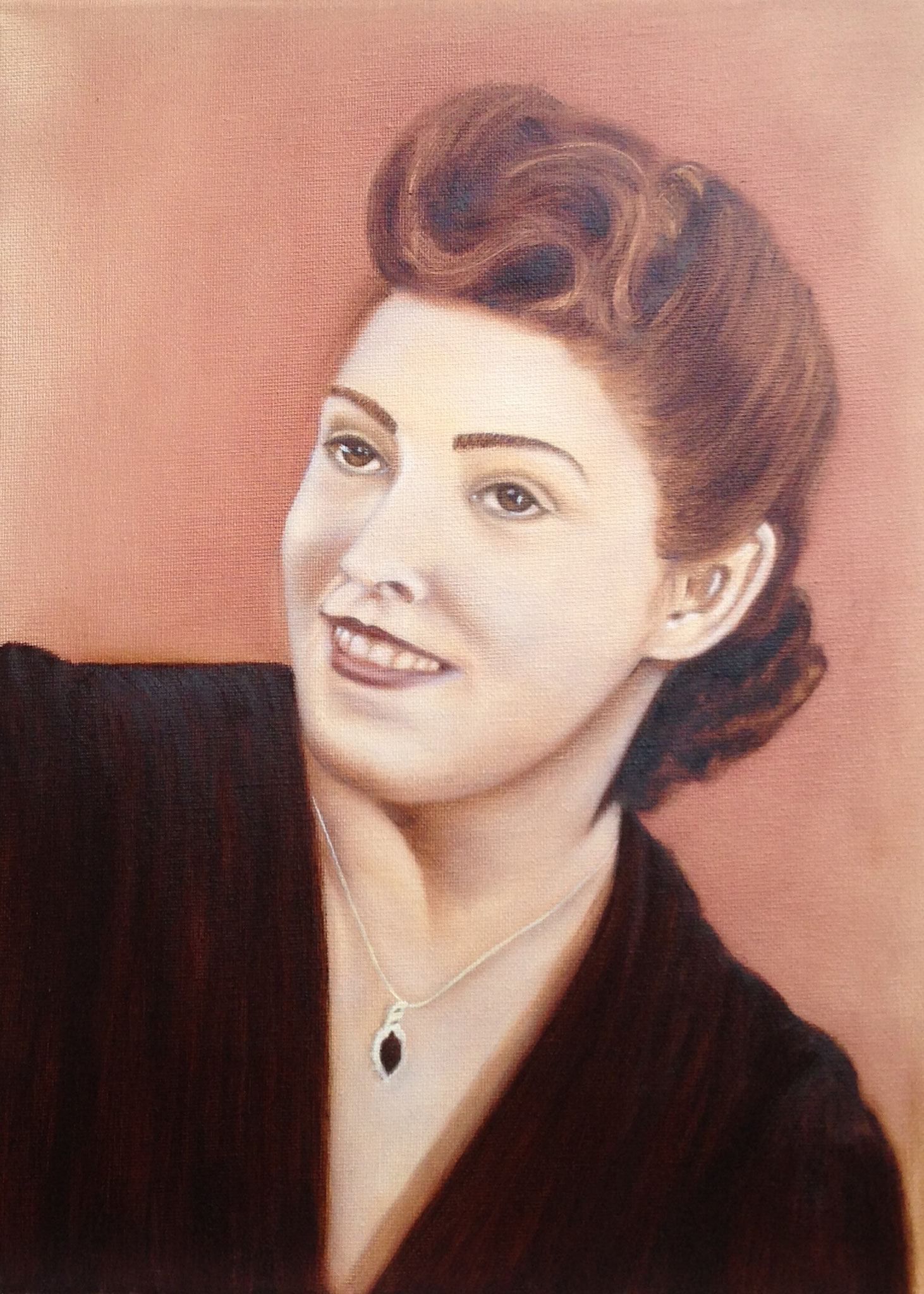 Retro portrait - oil, canvas 40x30, 2017, Private collection