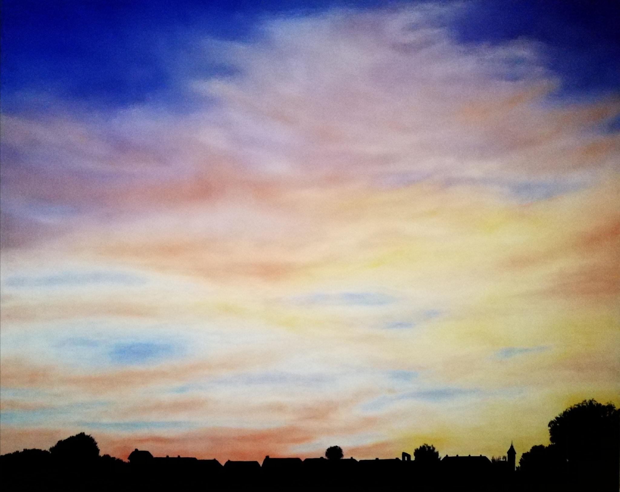 """Sunset in Bilzen Belgium"" - oil, canvas 100Х80"