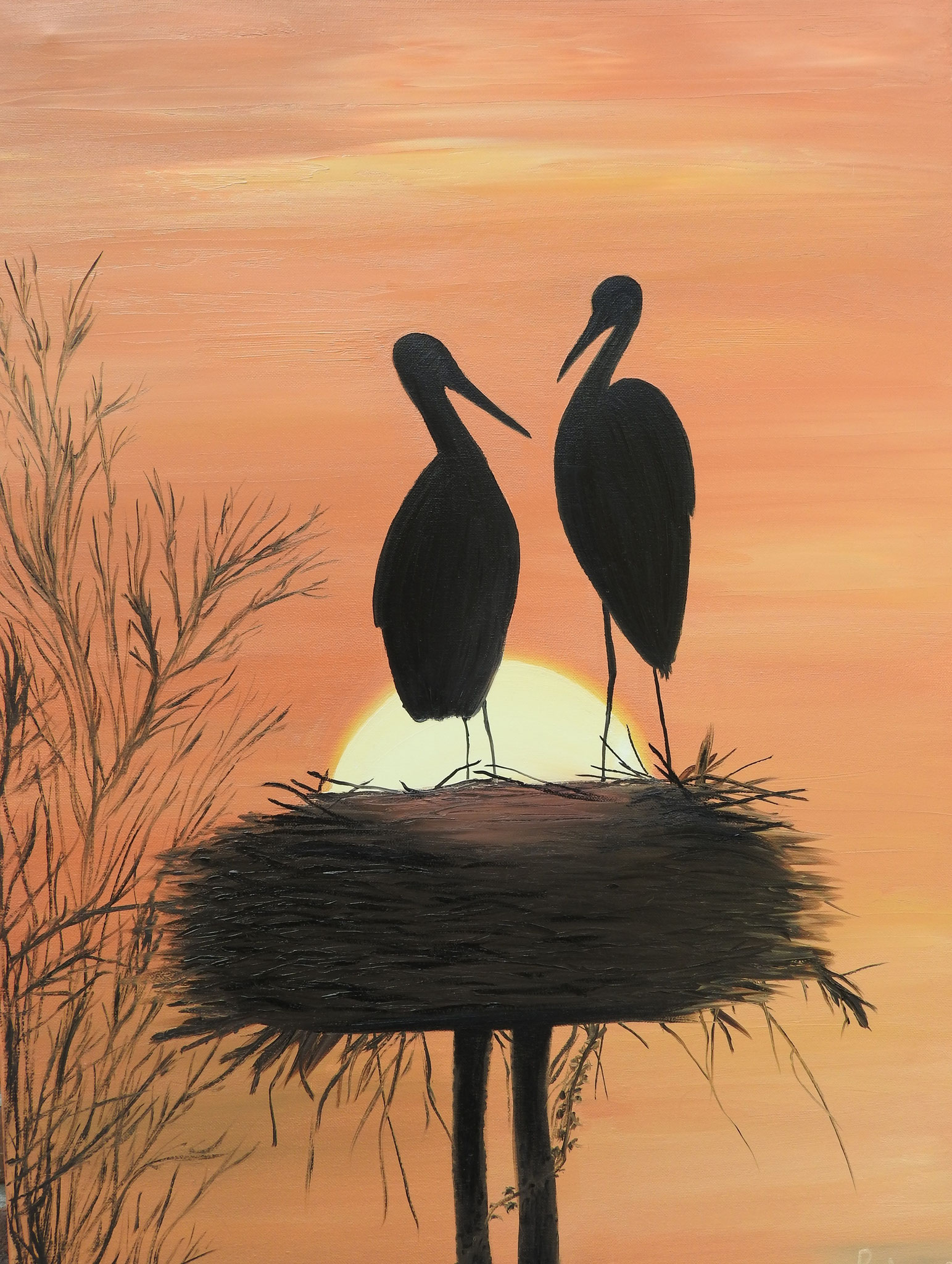 """Storks's Nest""  - oil, canvas 80х60, 2016, Private collection Belgium"