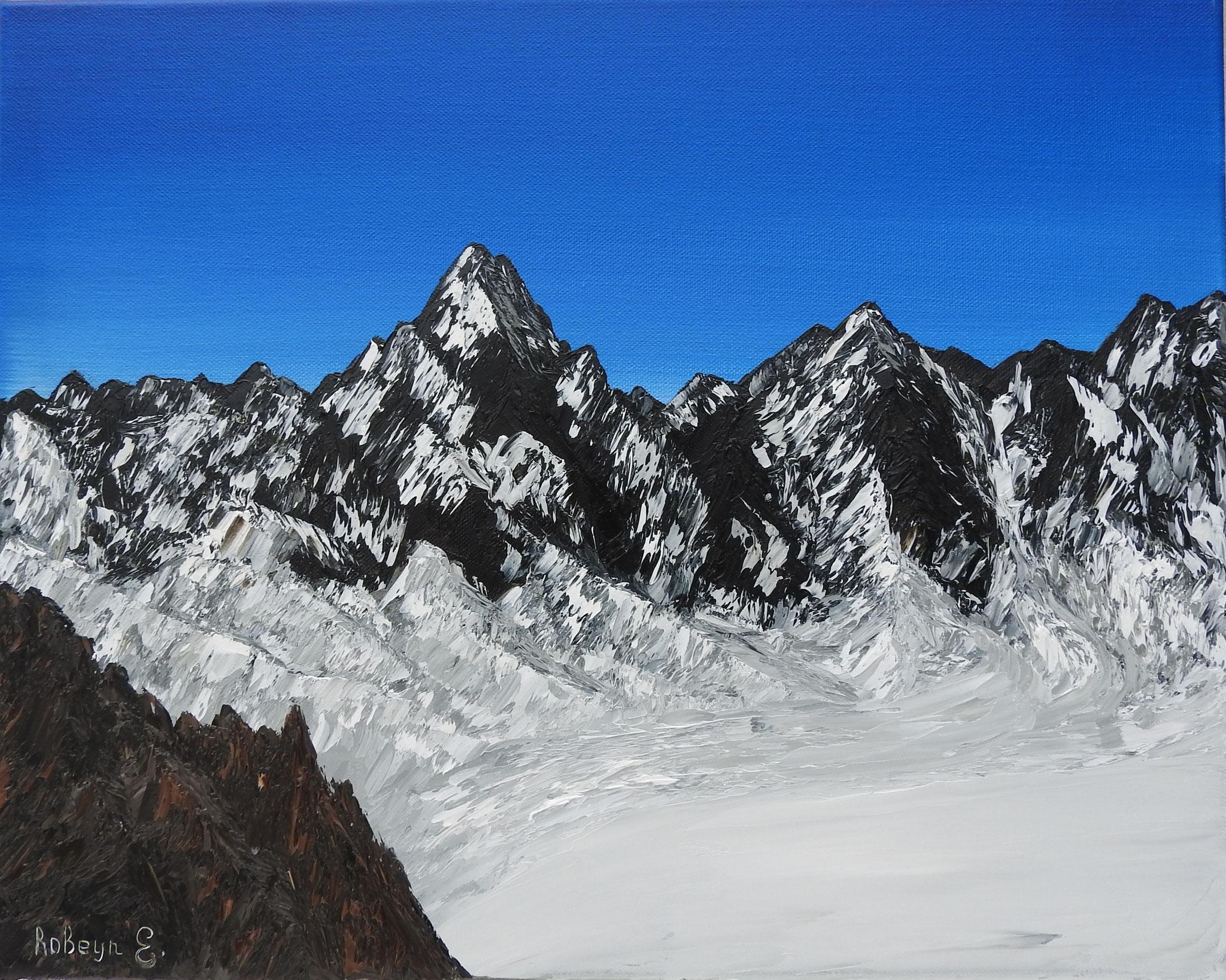 """Alps"" - oil, canvas 40Х50, 2016"