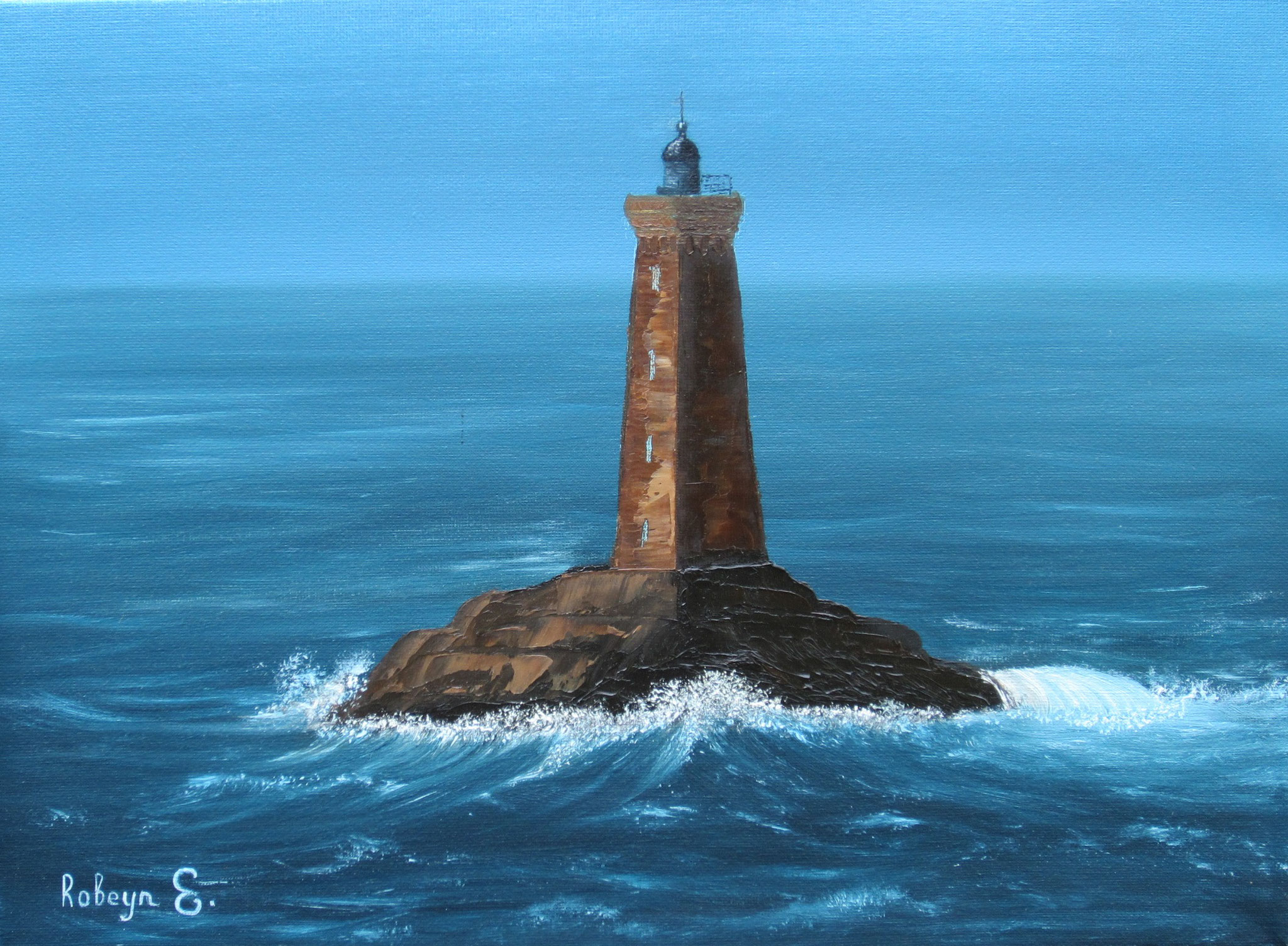 """""""Lighthouse""""  - oil, canvas 30x40, 2016, Private collection"""