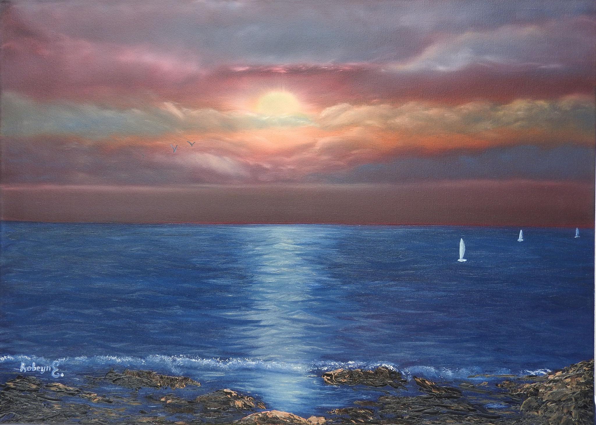 """Sunset""  - oil, canvas 50x70, 2016"