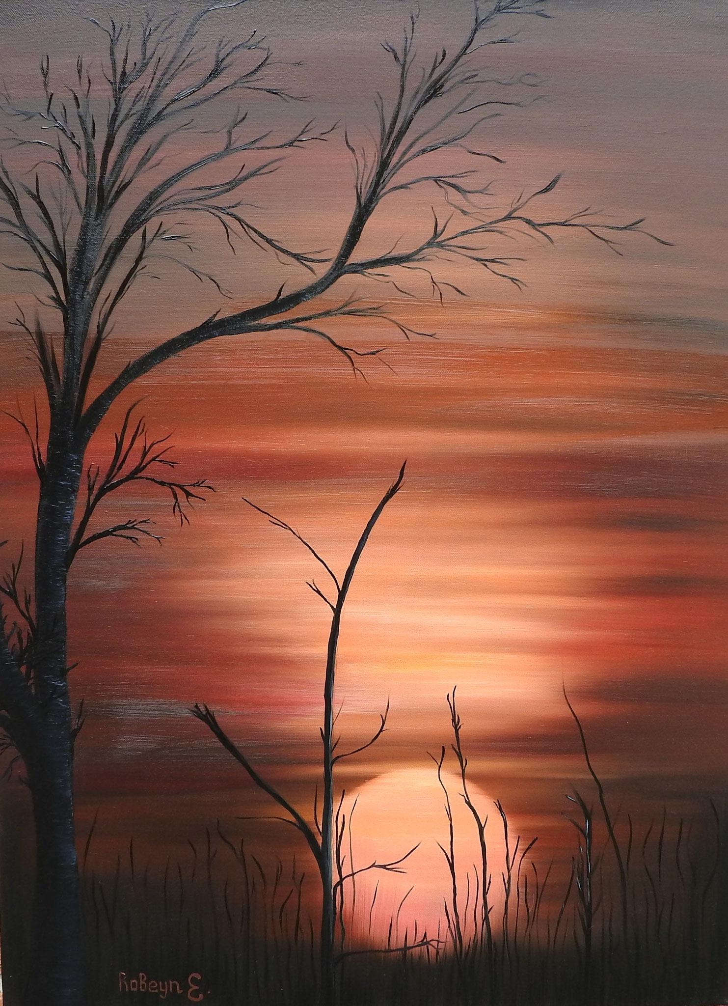 """""""Red sunset"""" - oil, canvas 80Х60, 2016"""