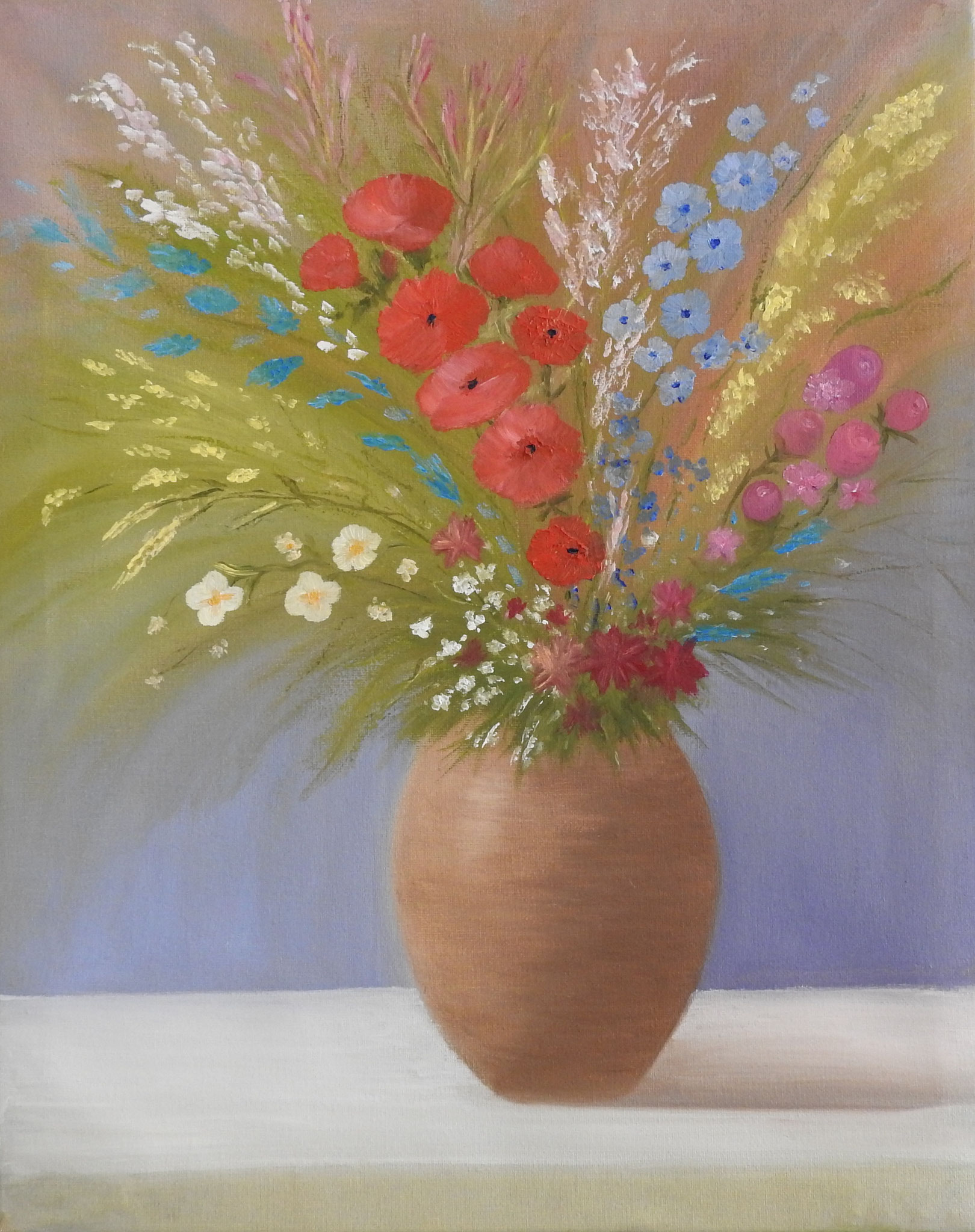 """Bouquet of wild flowers""   - oil, canvas 50x40, 2016"