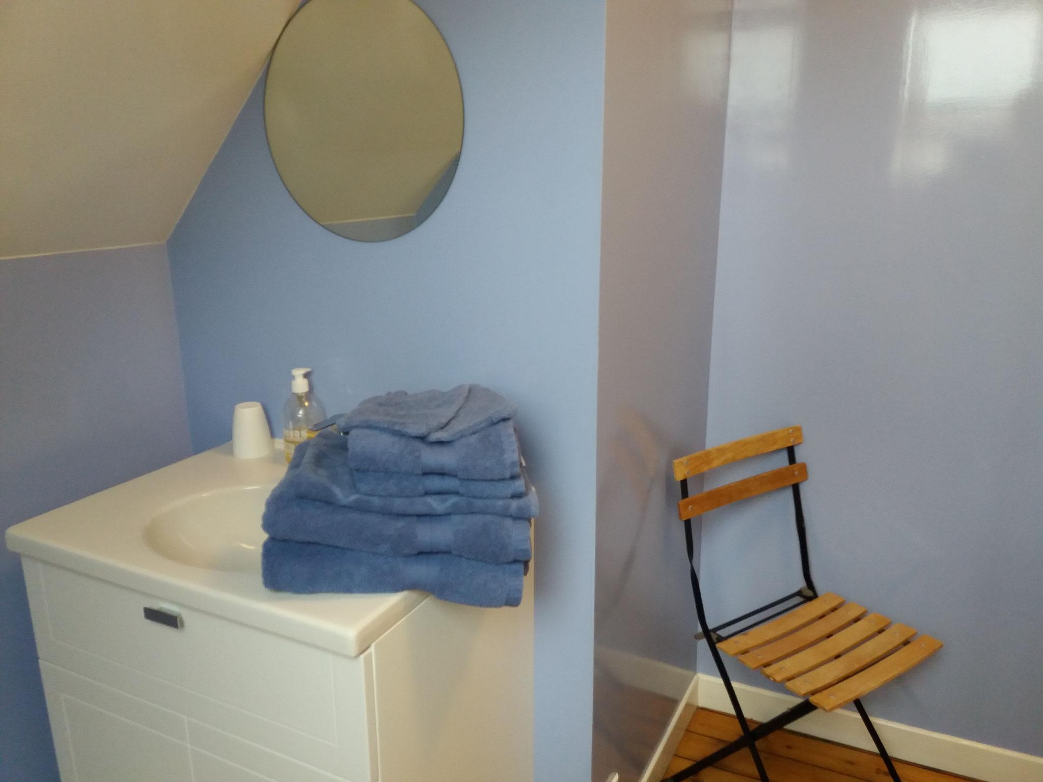 """chambre d""""hôte en baie de somme """"Lilas de Mer"""" La Villa du Marquenterre"""" salle d'eau privative"""