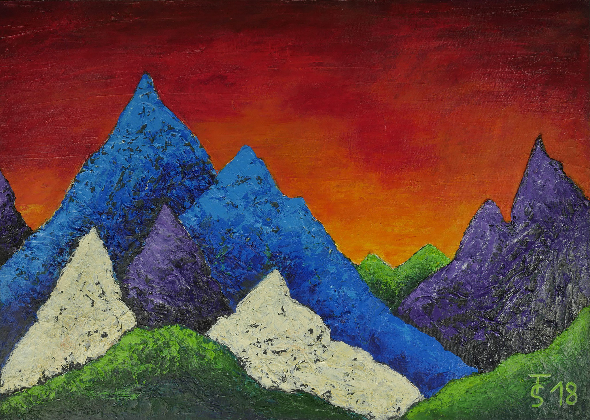 Berg-Magie  _  (Acryl auf Leinwand, 70 x 50 cm)