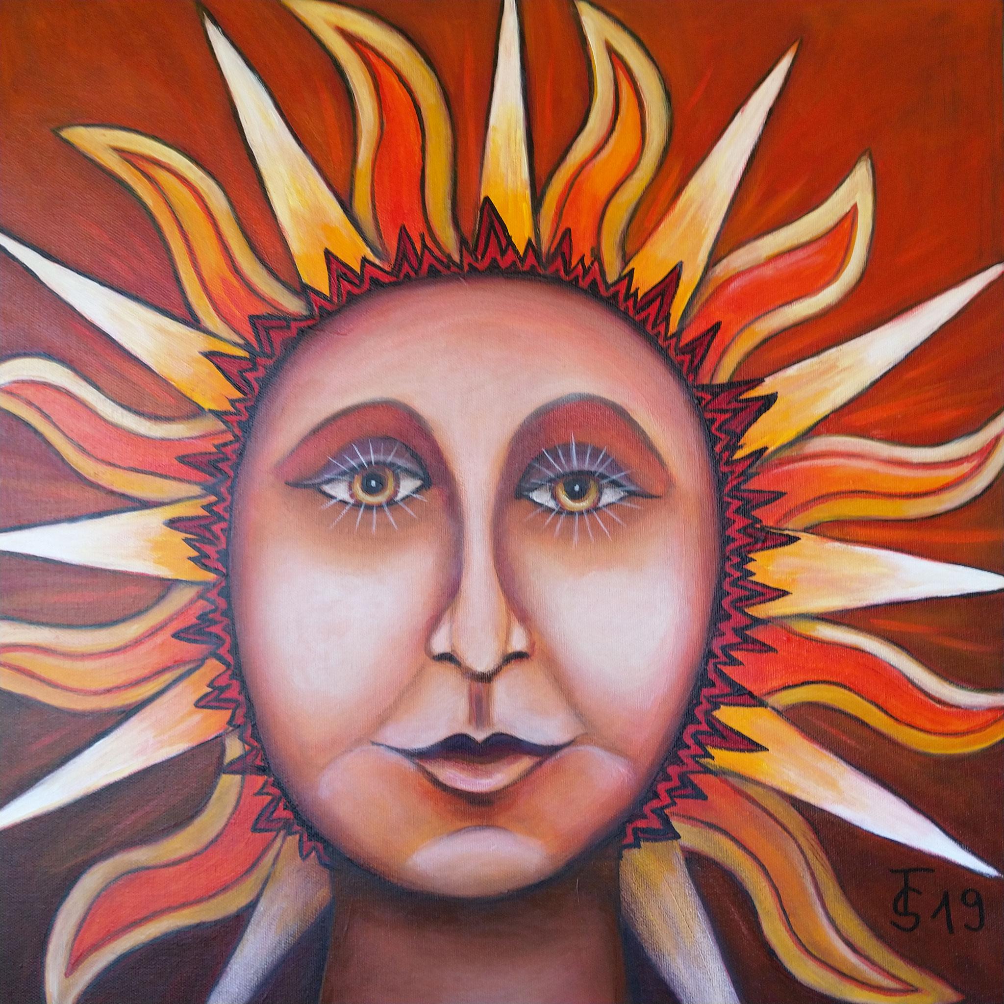 Sommer-Göttin   _    (Acryl auf Leinwand, 50 x 50 cm)