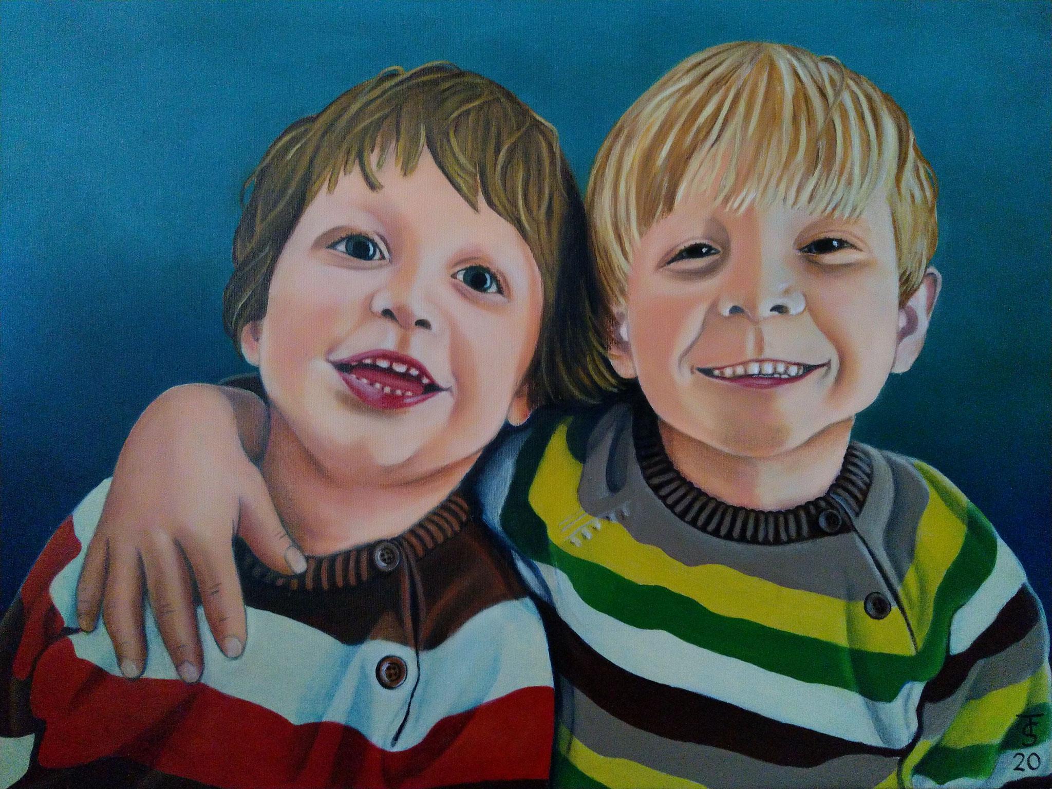 Henri und Jonas _  (Acryl auf Leinwand, 80 x 60 m)