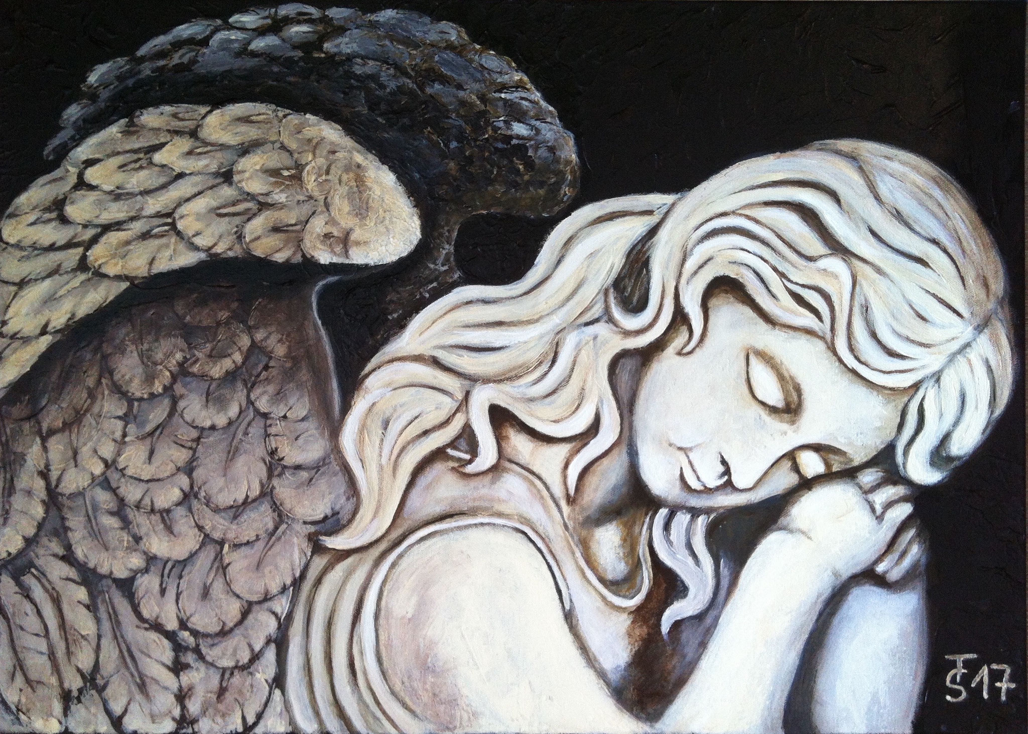 Engel _ (Acryl auf Leinwand, 70 x 50 cm)