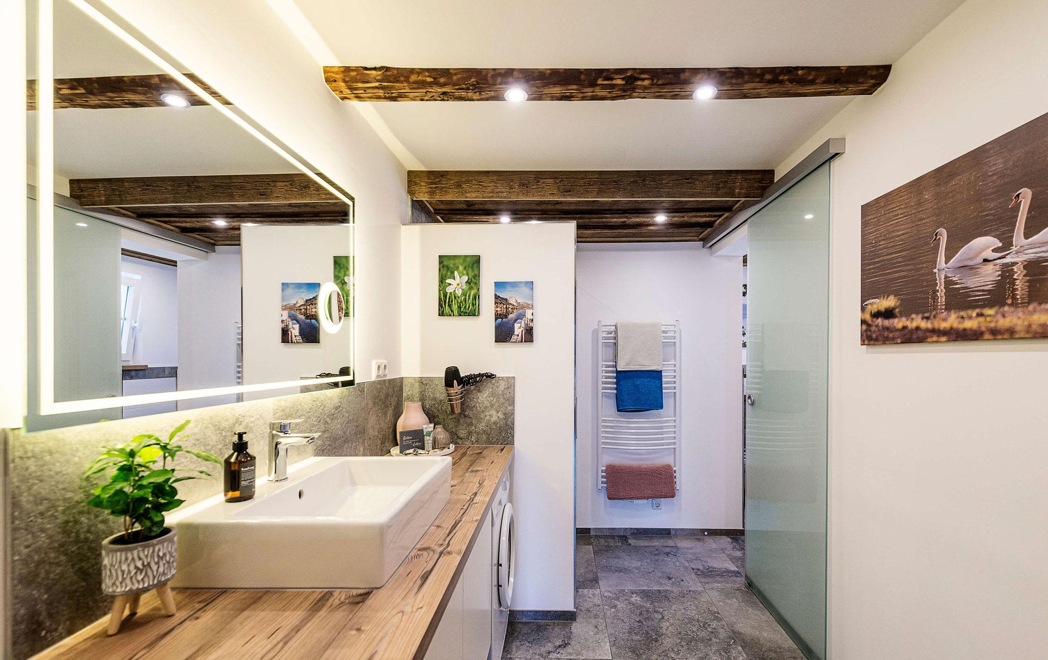Badezimmer Ferienwohnung Grundlsee