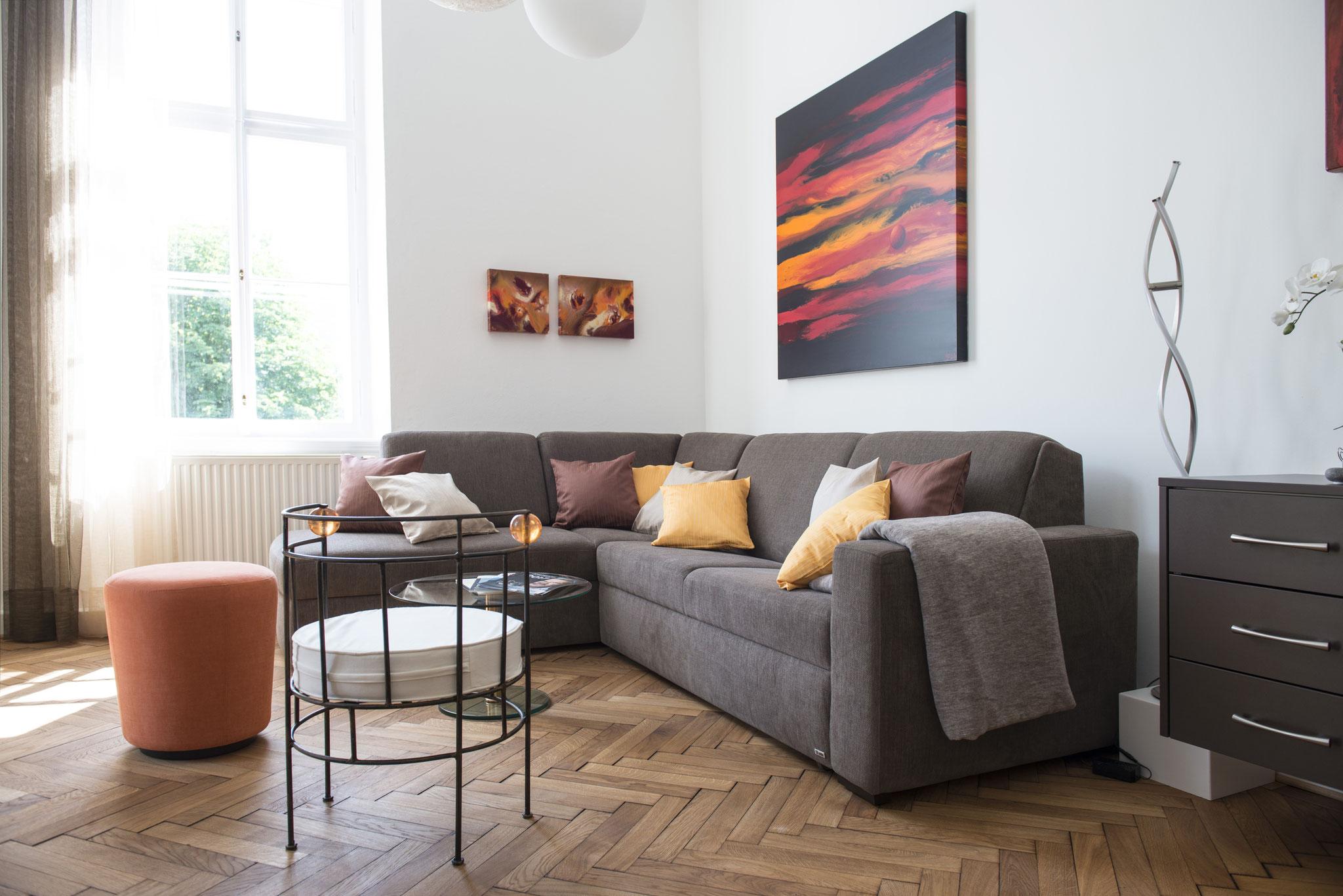 Wohnzimmer Ferienwohnung Bad Ischl