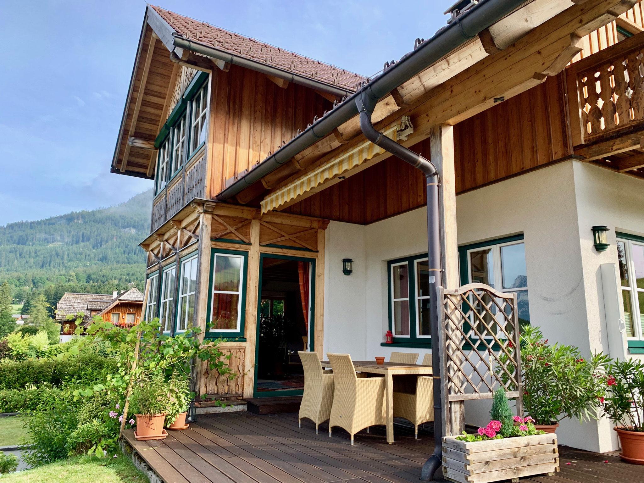 Terrasse Ferienhaus Ausseerland