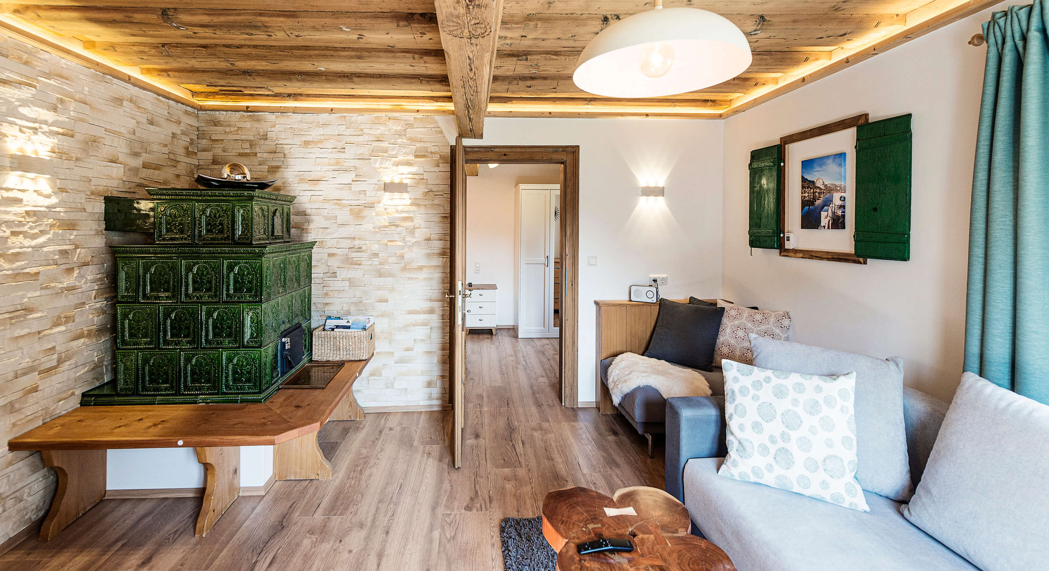 Wohnzimmer Ferienwohnung Grundlsee
