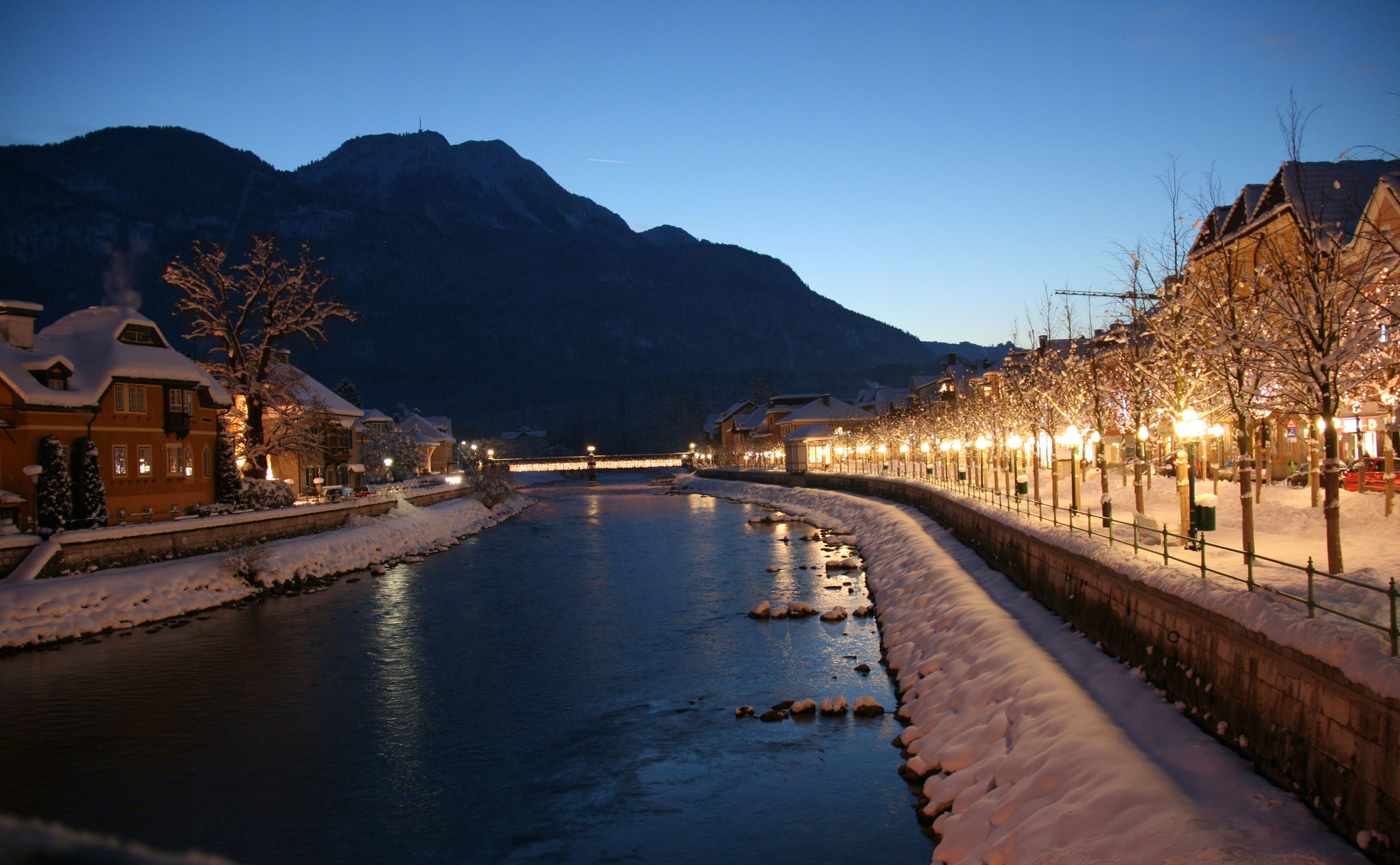 Bad Ischl at night